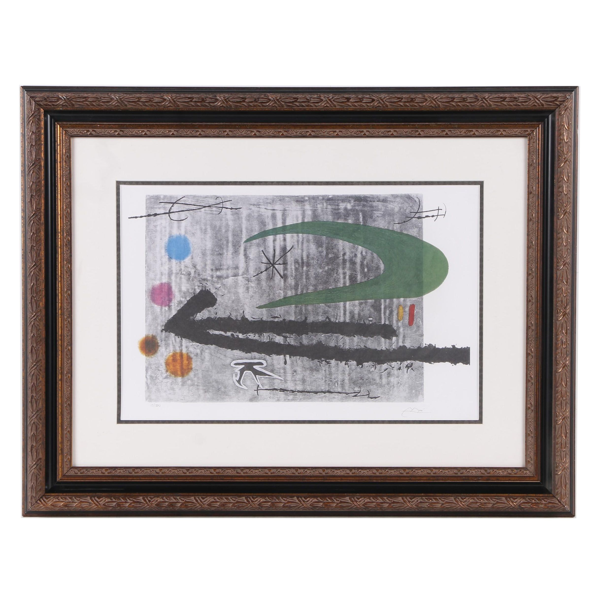 """Limited Edition Offset Lithograph After Joan Miró """"Towards the Left"""""""