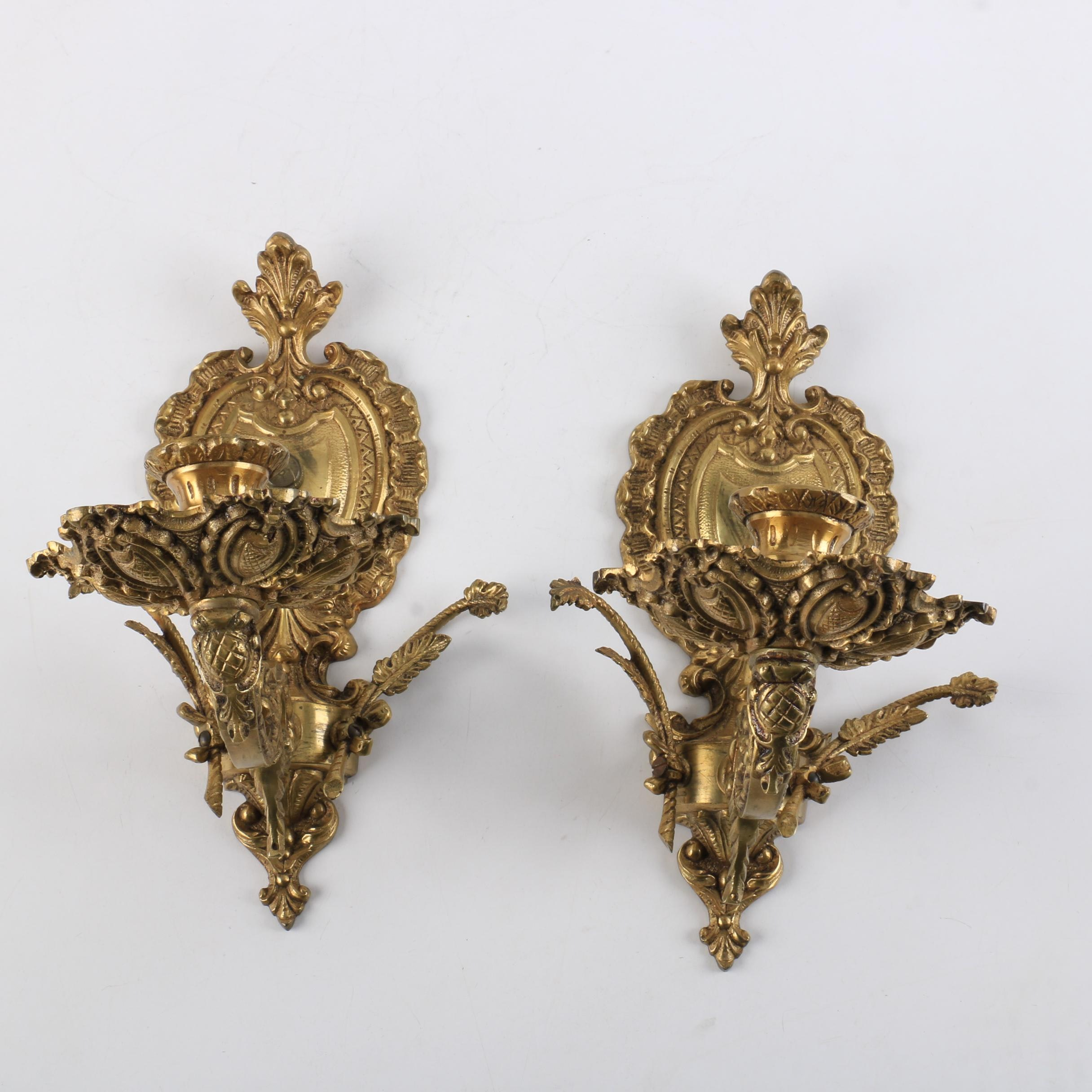 Wall-Hanging Brass Candle Holders