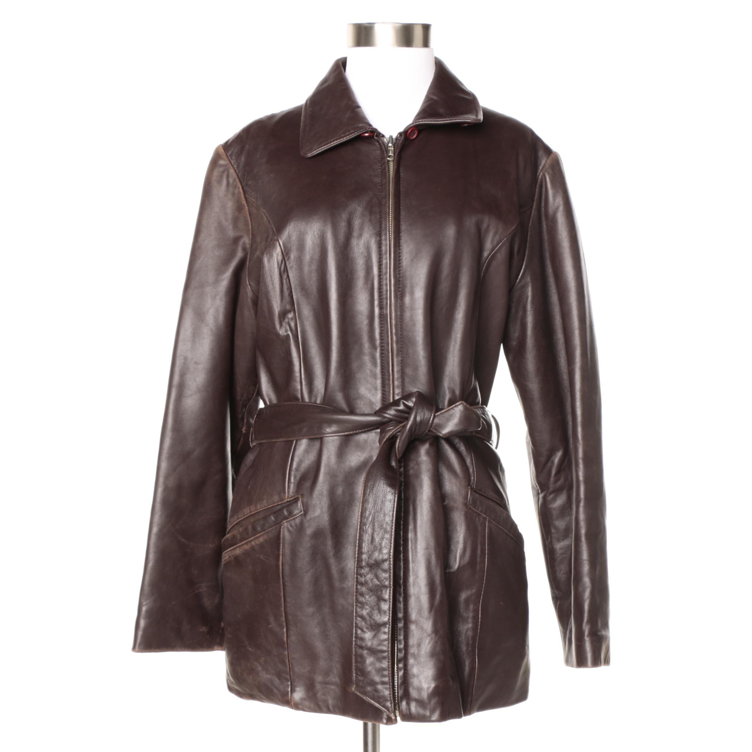 Harvé Benard Brown Leather Jacket