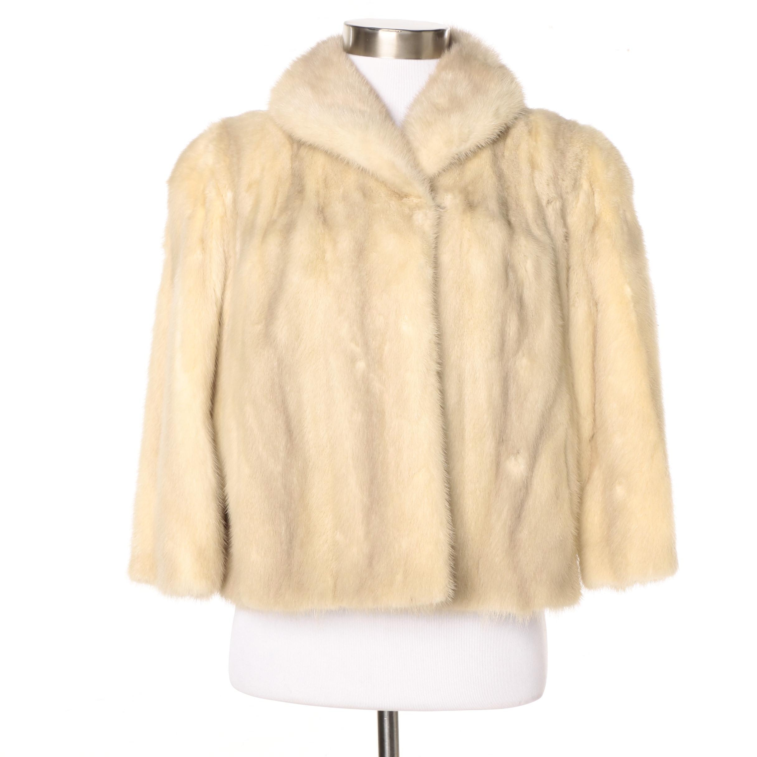 Vintage Blonde Mink Fur Jacket