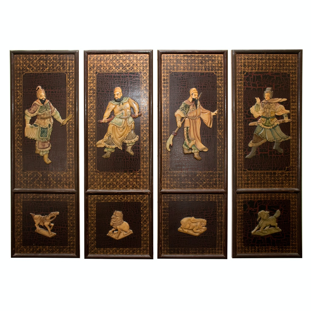 Chinese Warrior Decorative Plaques