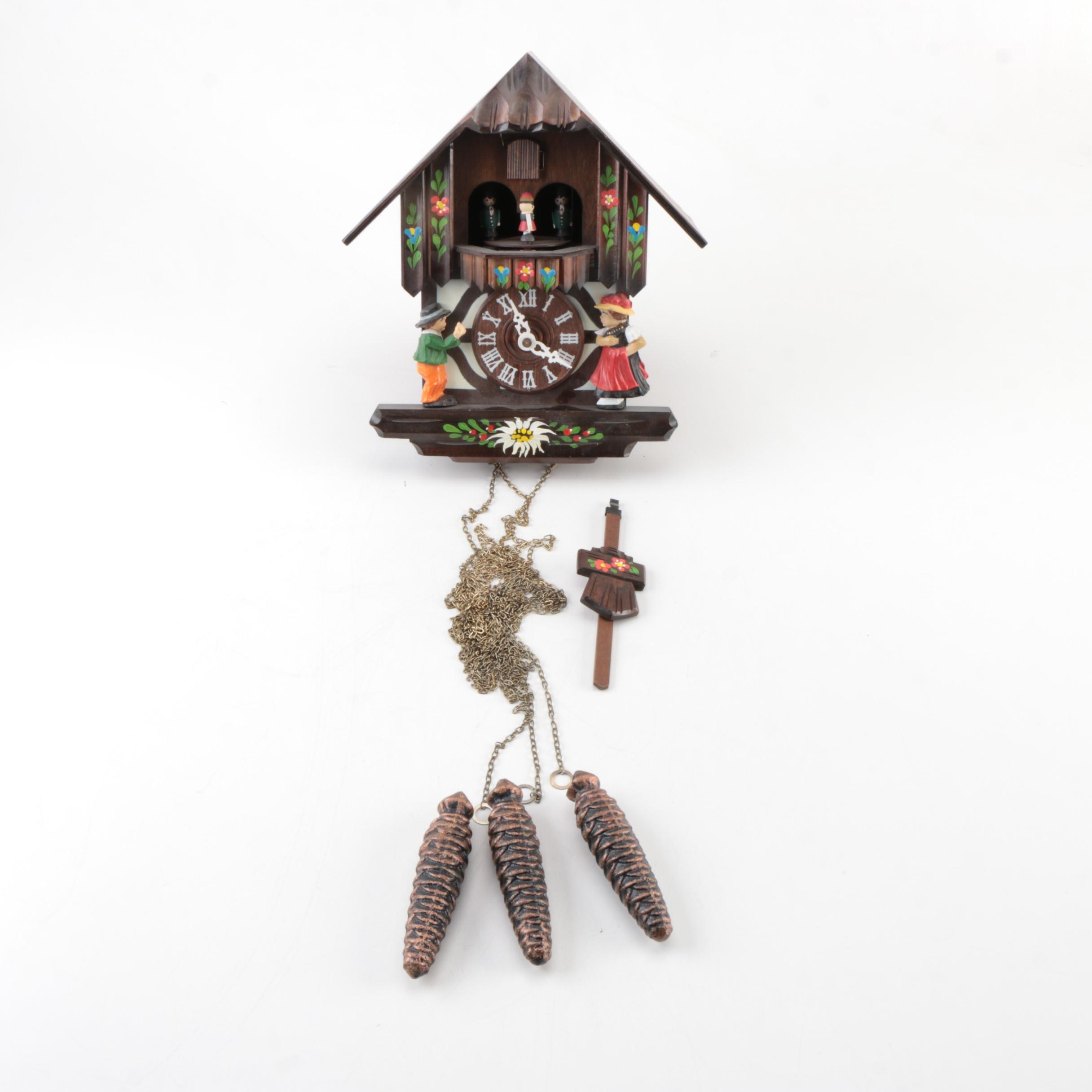 German Black Forest Style Chalet Cuckoo Clock