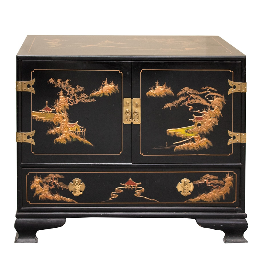 Chinoiserie Painted Storage Chest