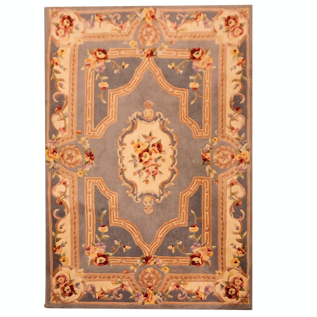 Tufted Aubusson-Style Chinese Wool Area Rug