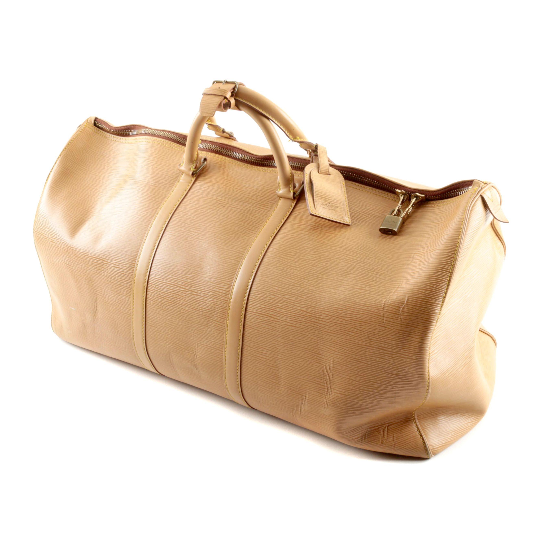 Louis Vuitton Tan Epi Leather Duffel Bag