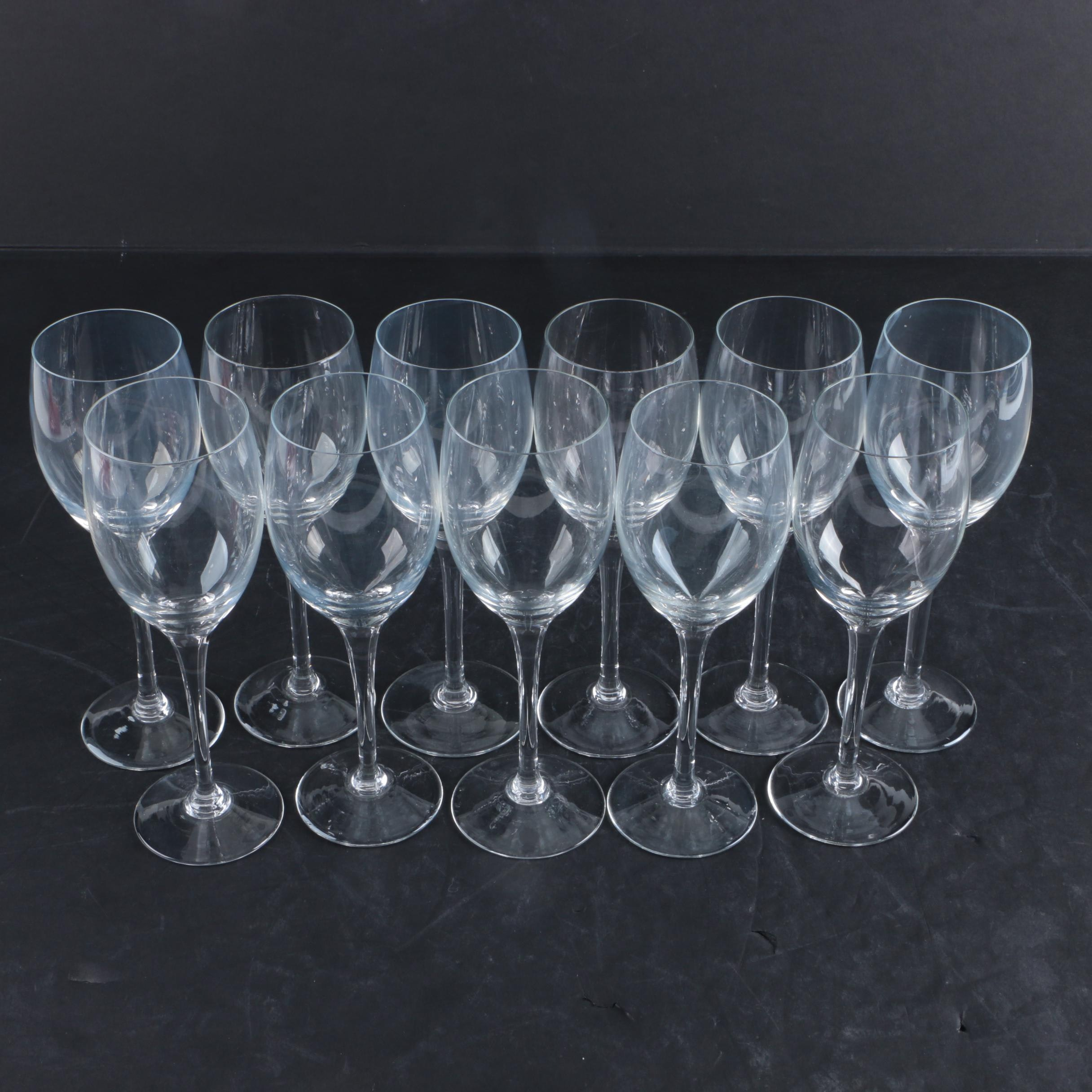 Clear White Wine Glasses