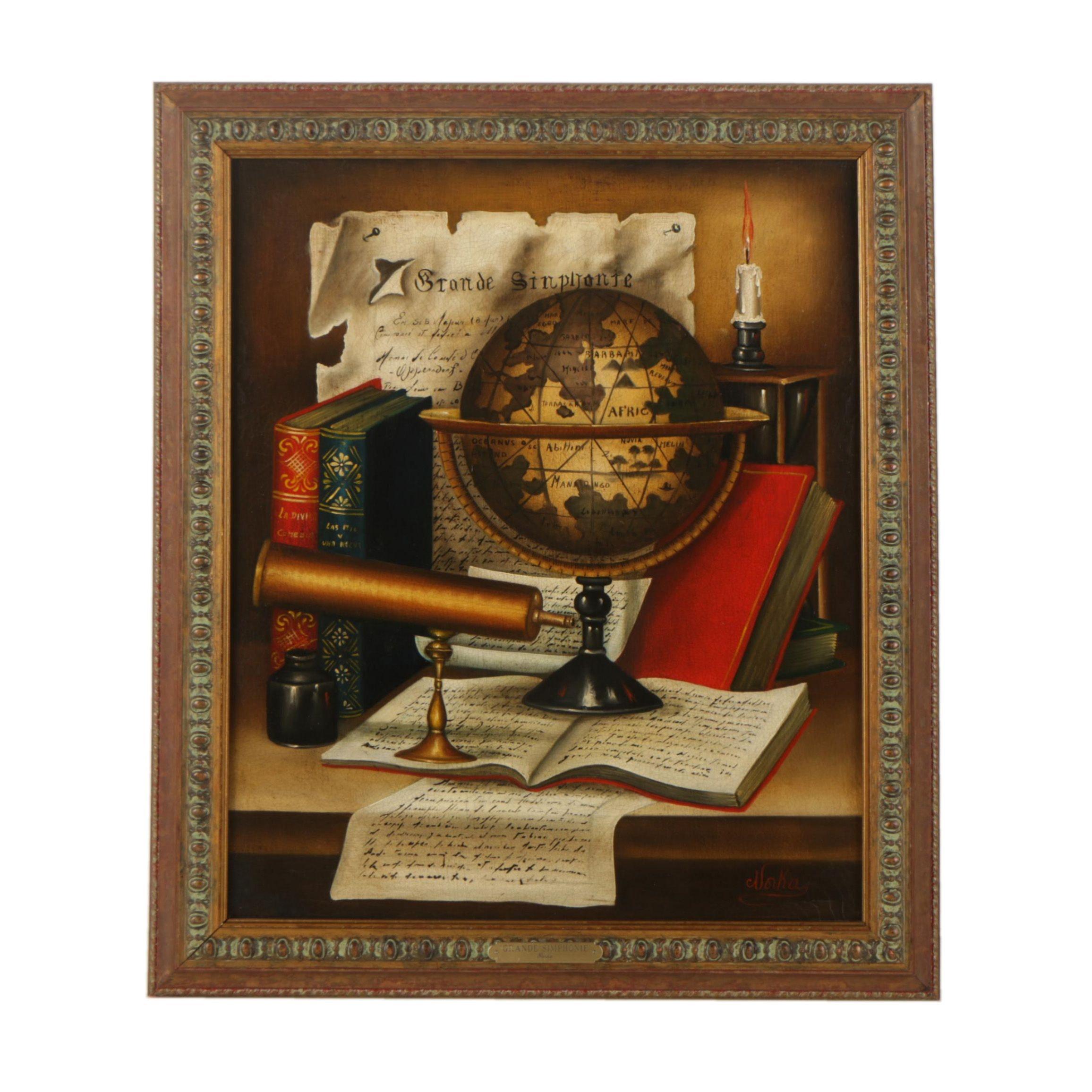 """Norka Urde Oil Painting """"Grande Simphonie"""""""