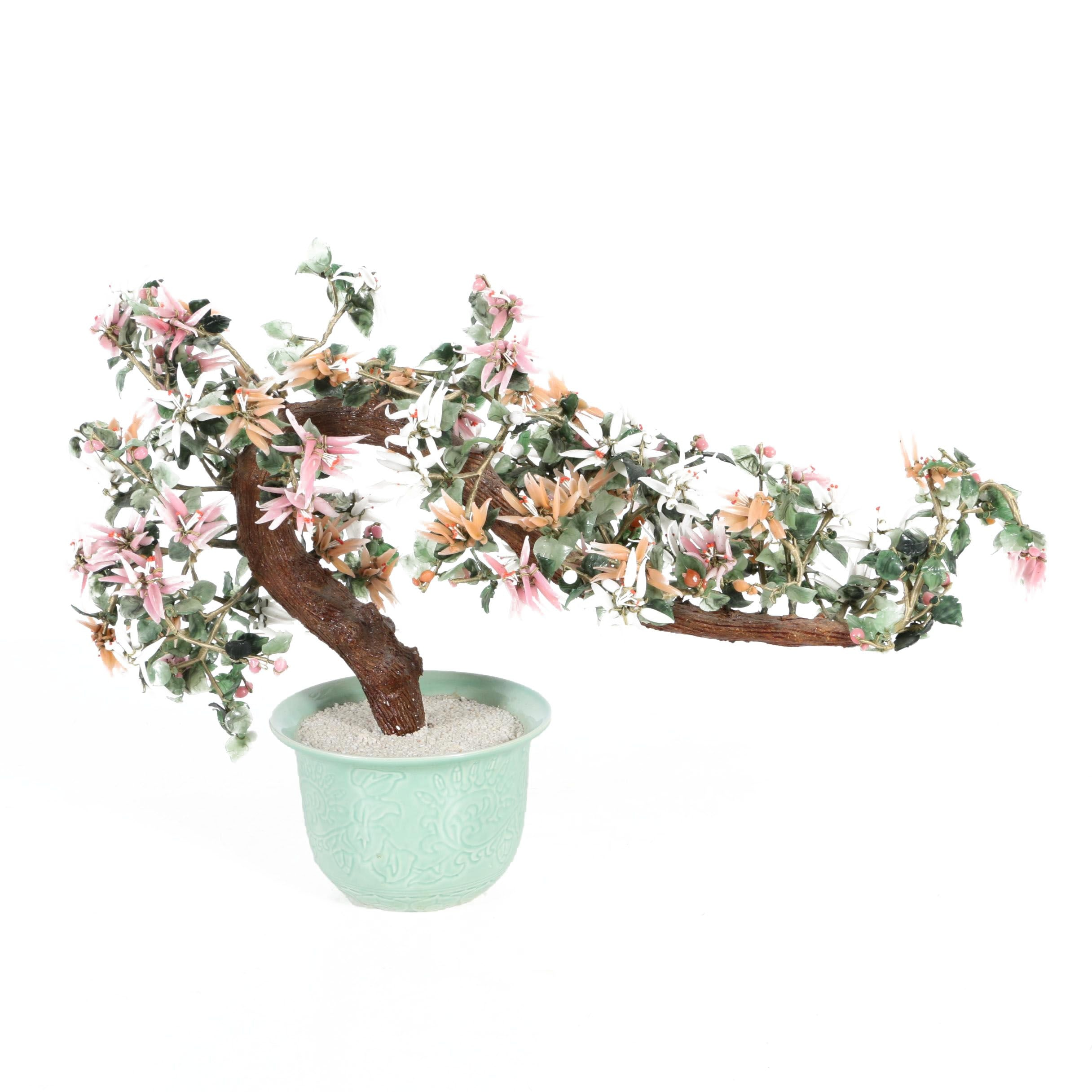 Resin and Glass Bonsai Branch