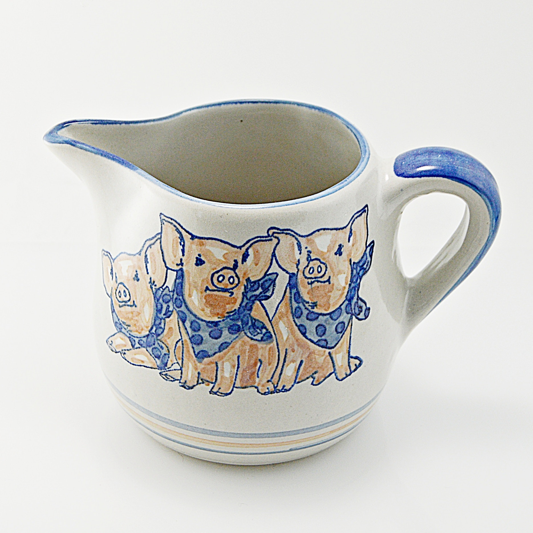 "Louisville Stoneware ""Three Little Pigs"" Pitcher"
