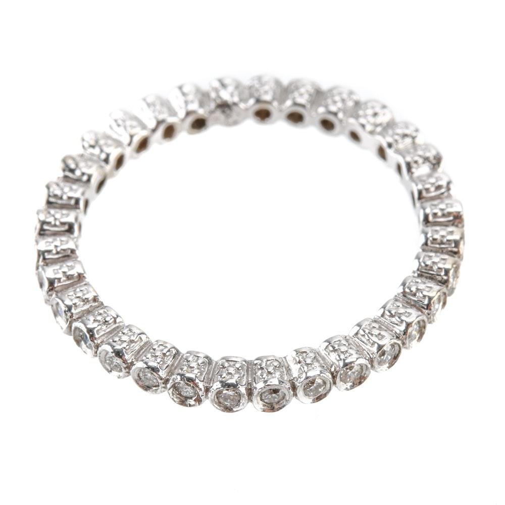 14K White Gold Diamond Eternity Ring Band