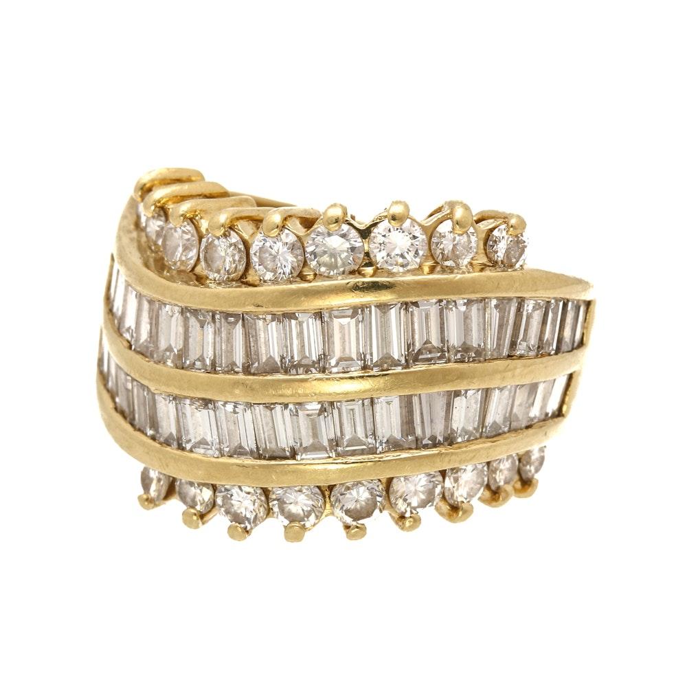 18K Yellow Gold 2.14 CTW Diamond Ring