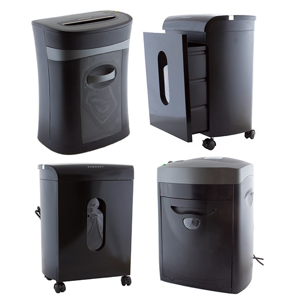 Four Electric Paper Shredders