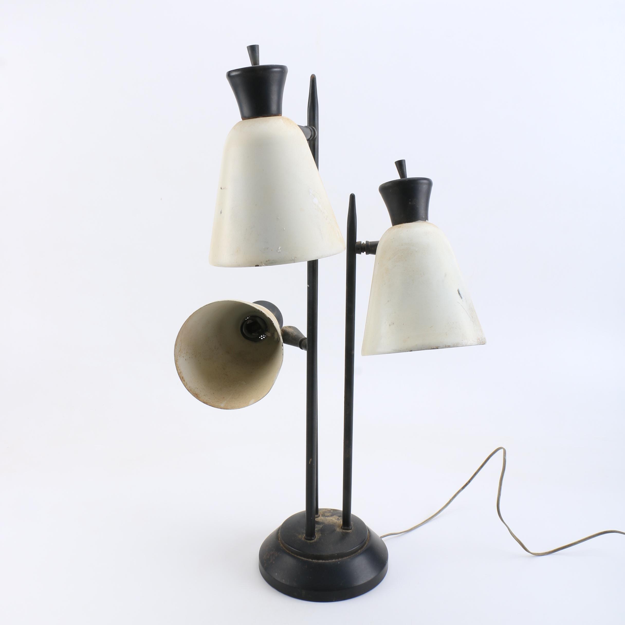 Vintage Three Light Table Lamp Ebth
