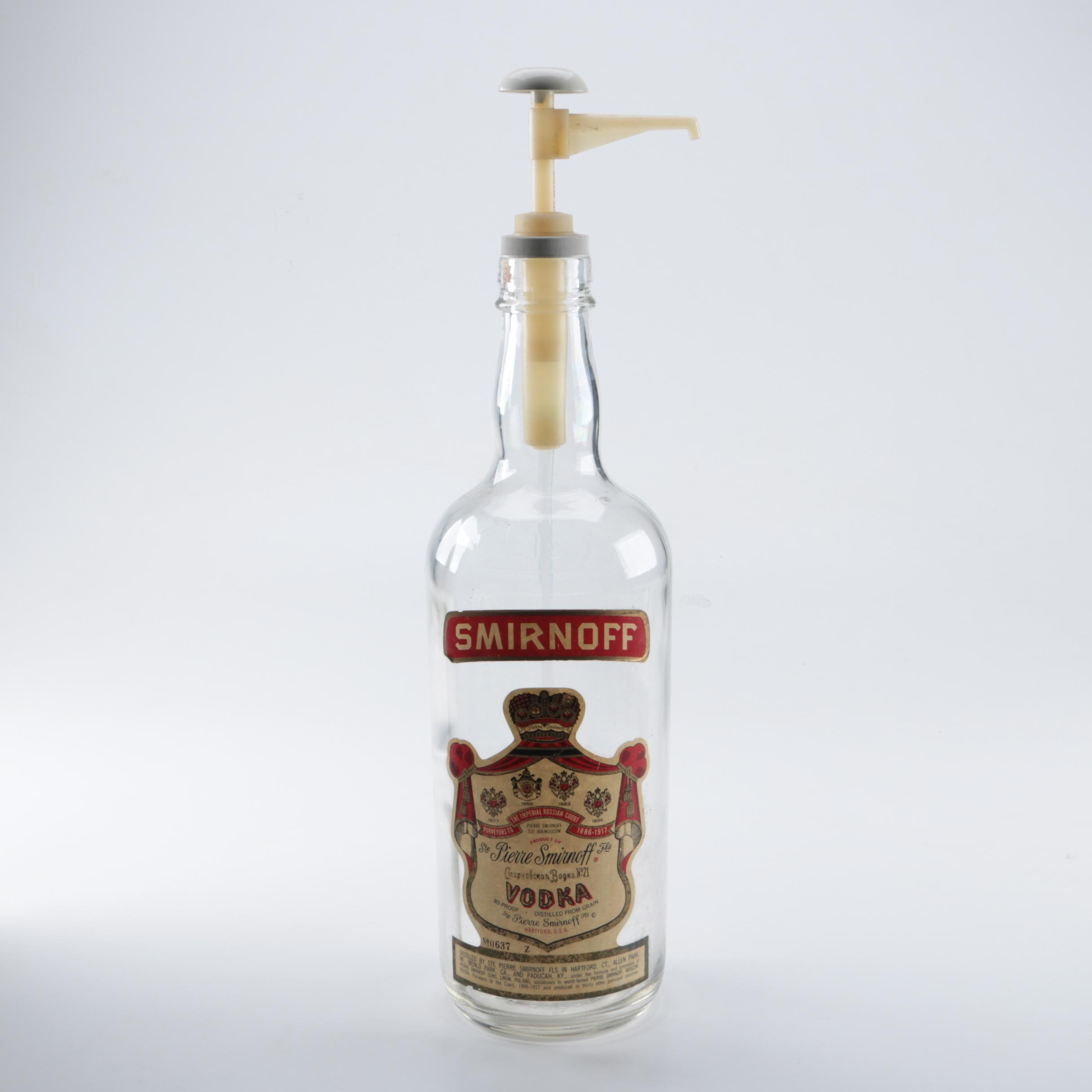 Vintage Smirnoff Vodka Dispenser