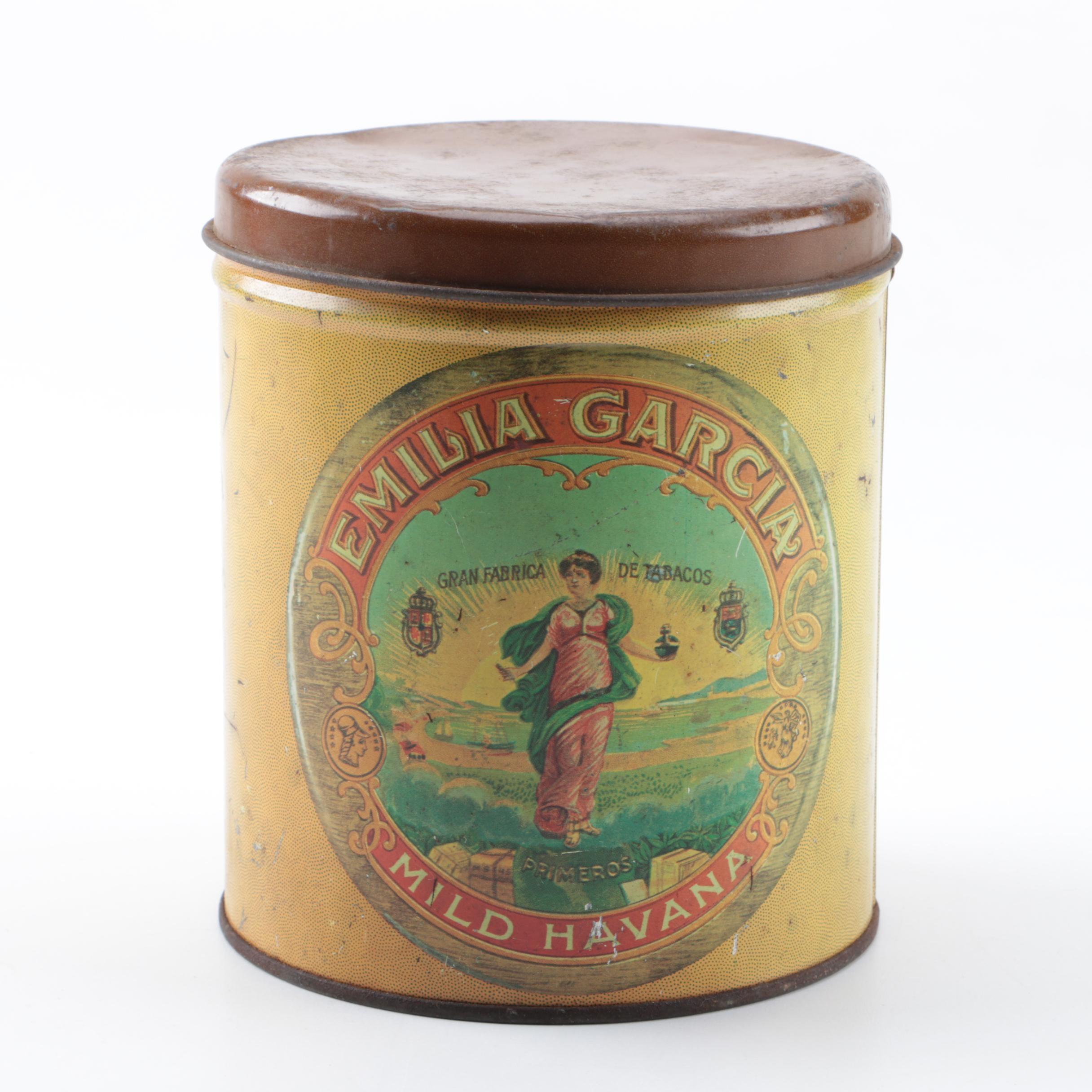 Emilia Garcia Mild Havana Tobacco Tin