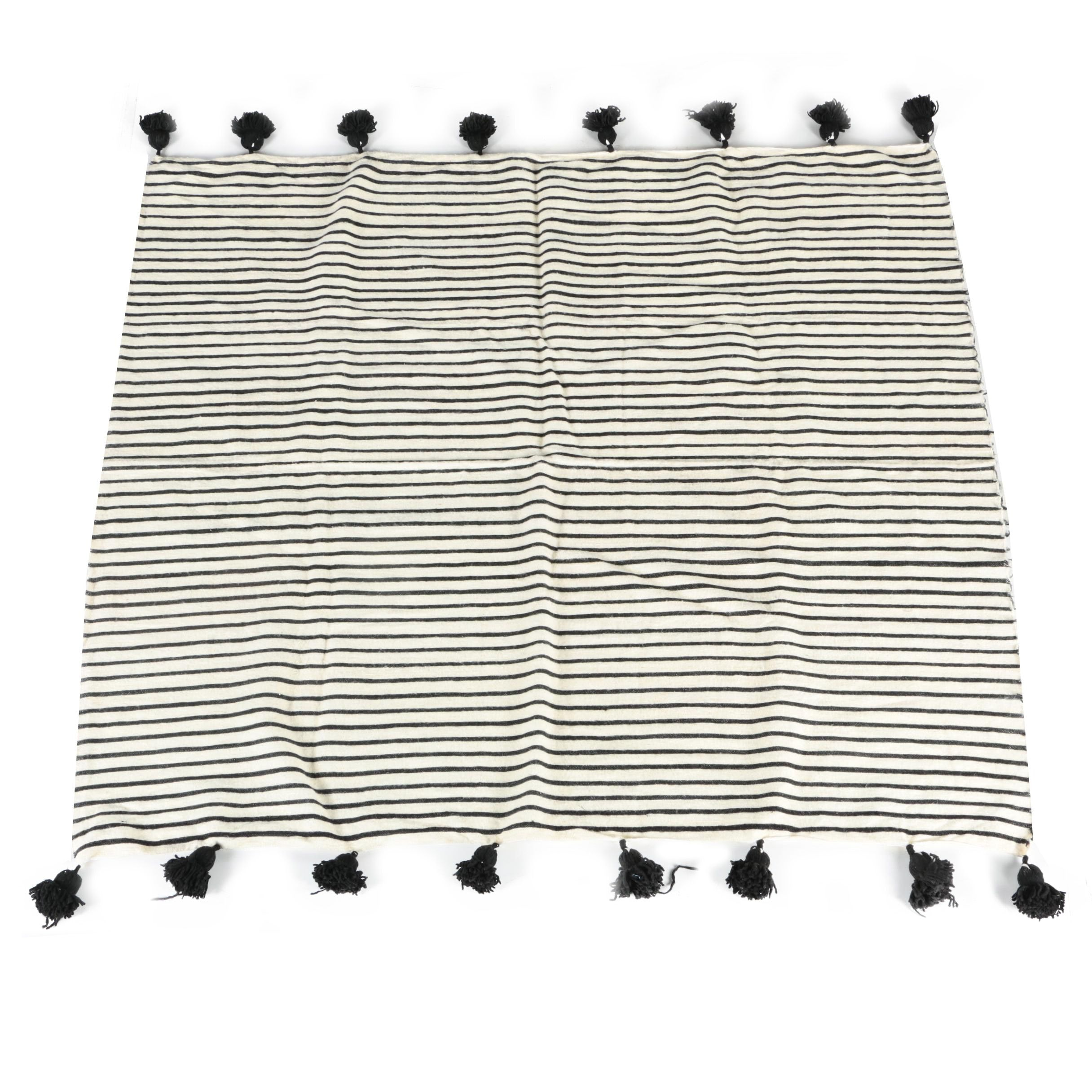 Handwoven Moroccan Wool Throw Blanket