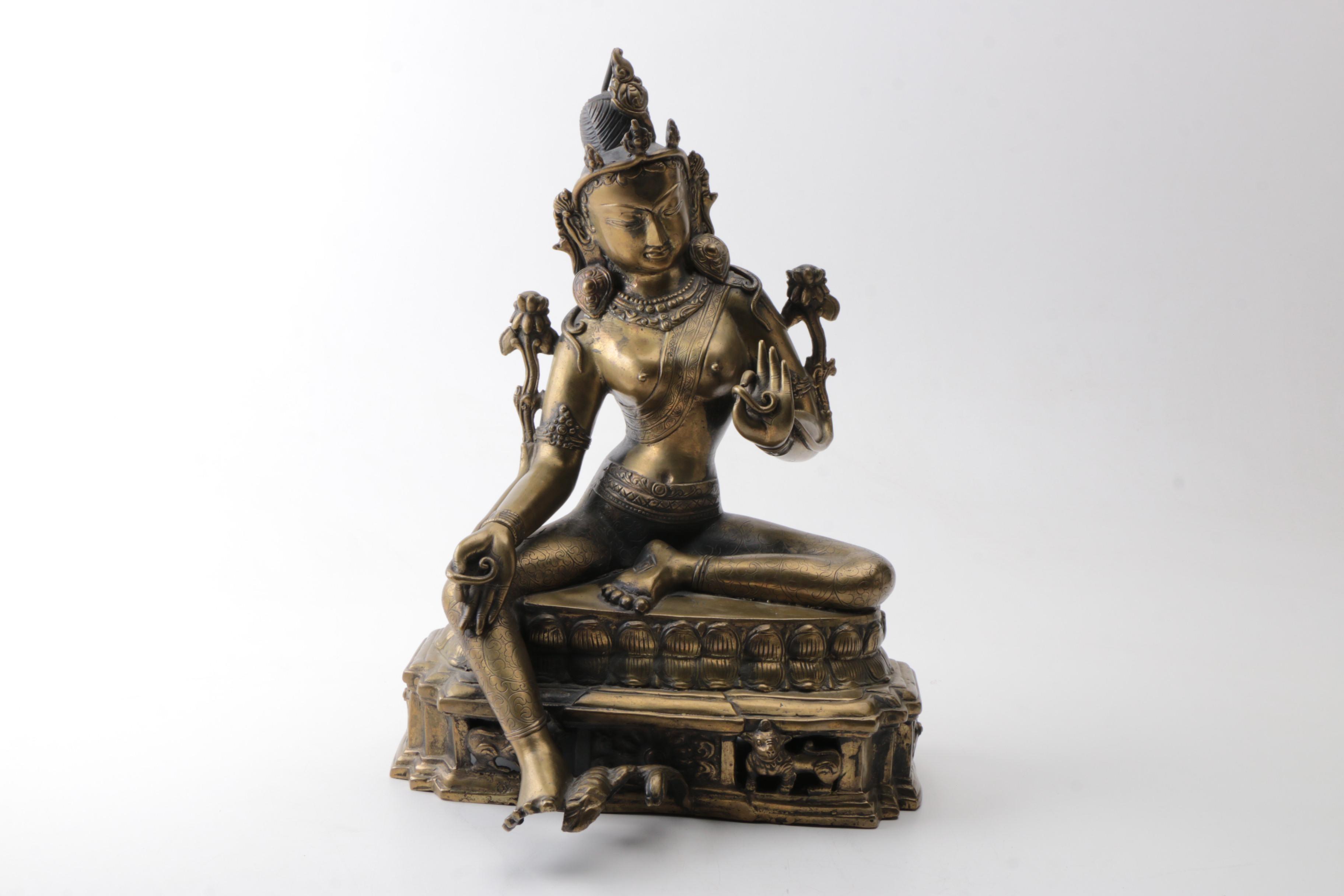 Tibetan Style Tara Bodhisattva Statuette