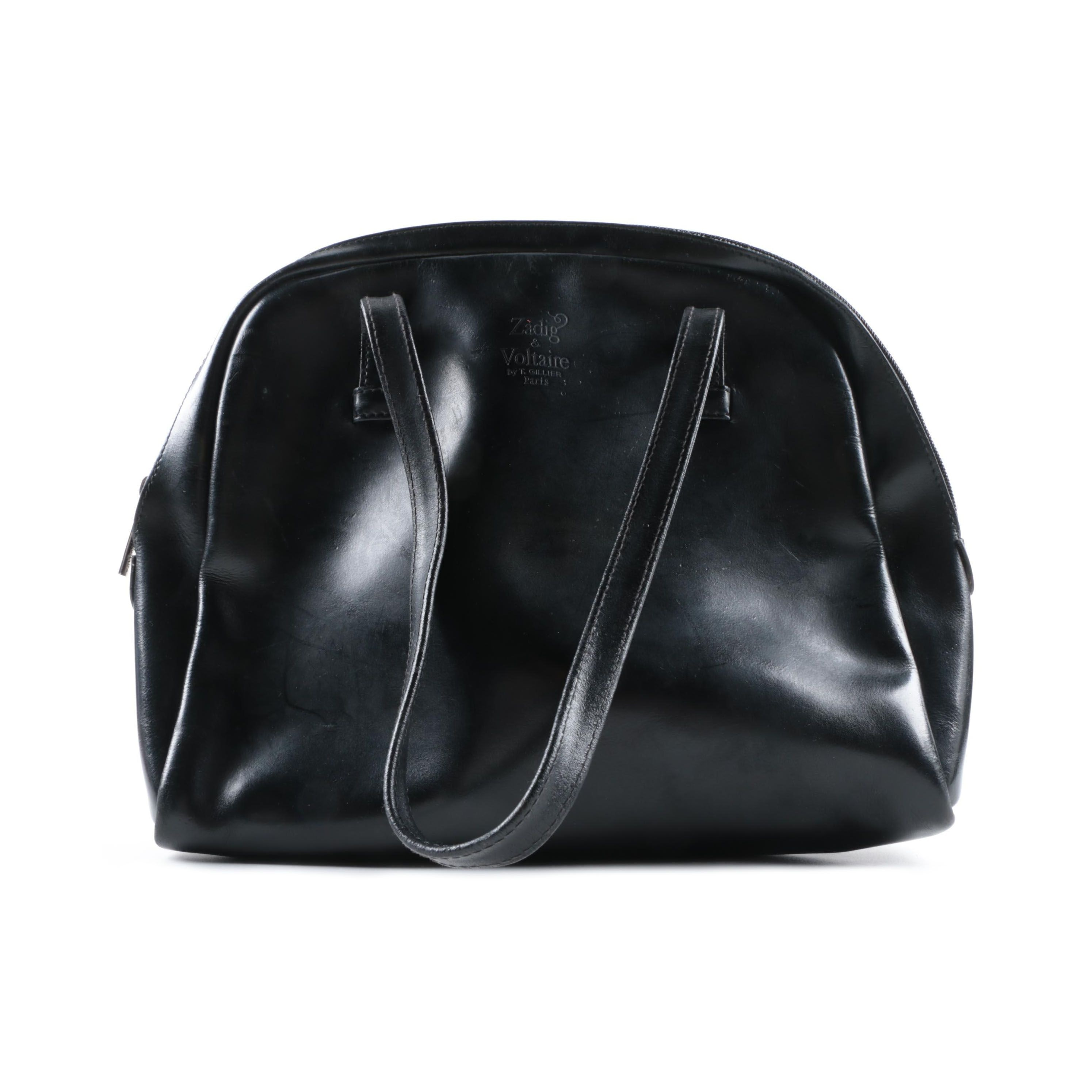 Zadig & Voltaire French Made Black Leather Handbag
