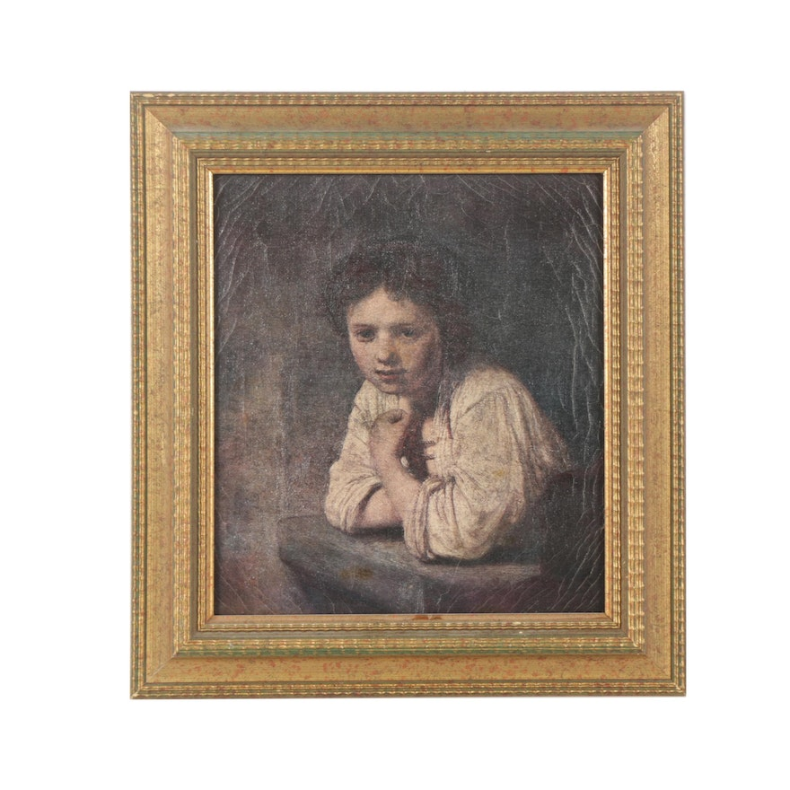 Embellished Giclee After Rembrandt Girl At A Window Ebth