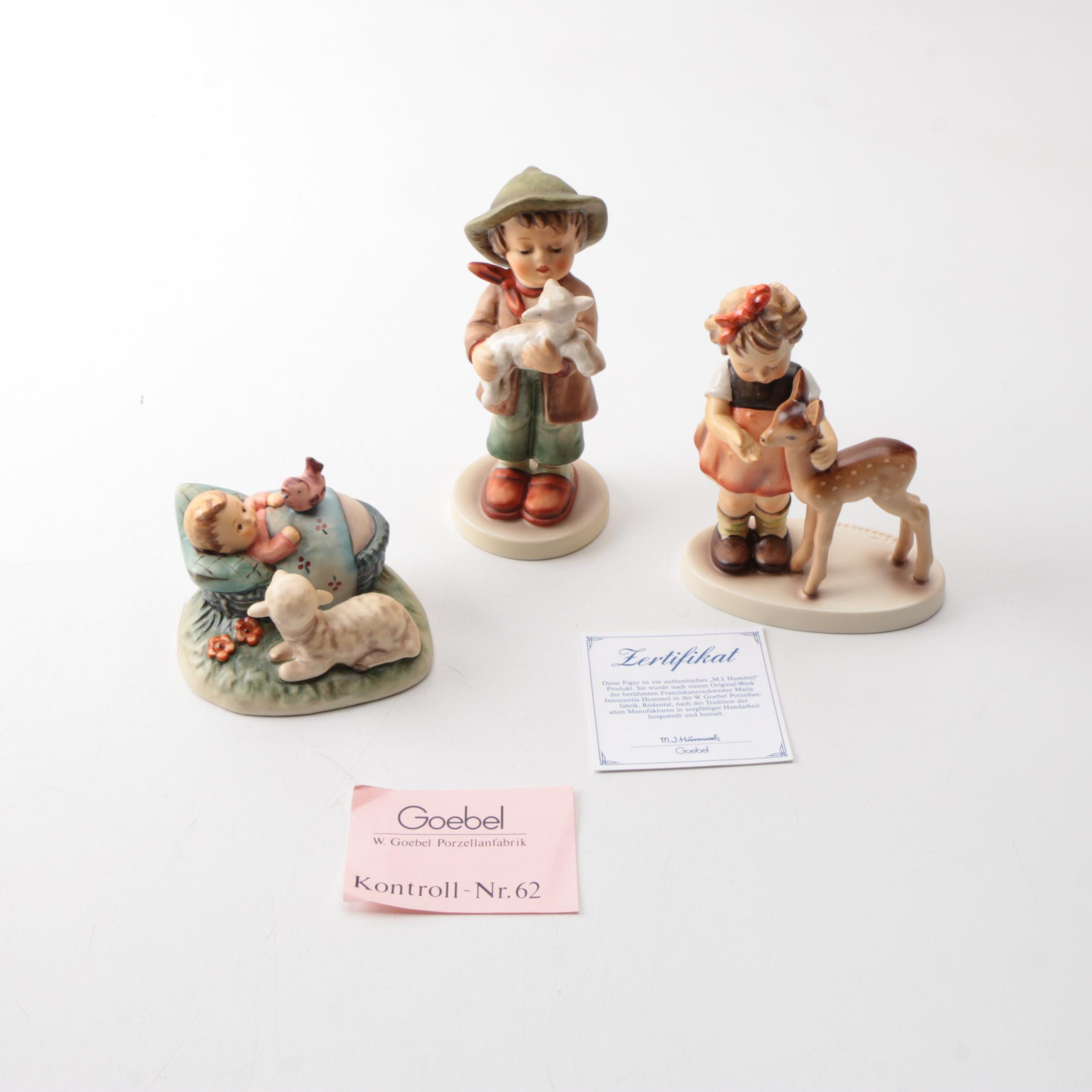 """Hummel Figurines """"Friends"""", """"Lost Sheep"""" and """"The Guardian"""""""