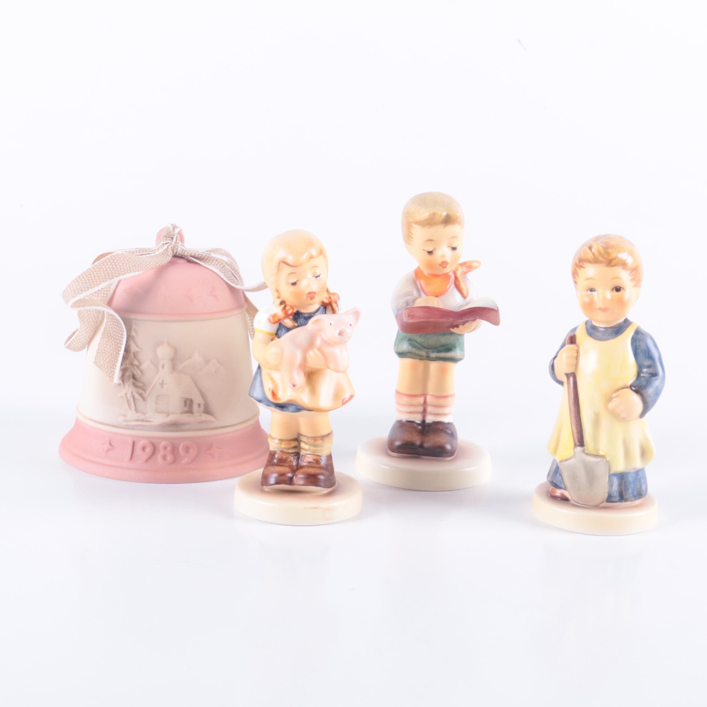 Four M.I. Hummel Club Figurines