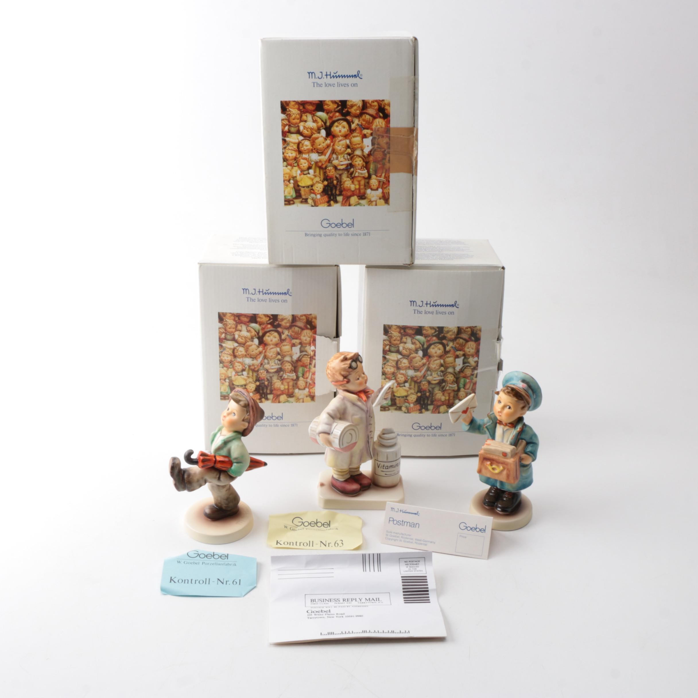 "Three Goebel M.I. Hummel Figurines Featuring ""Little Pharmacist"""