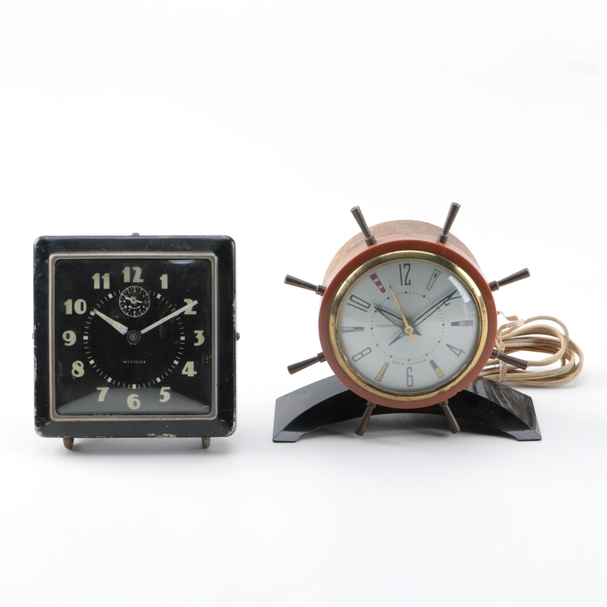 Vintage Clocks by Seth Thomas and Westclox