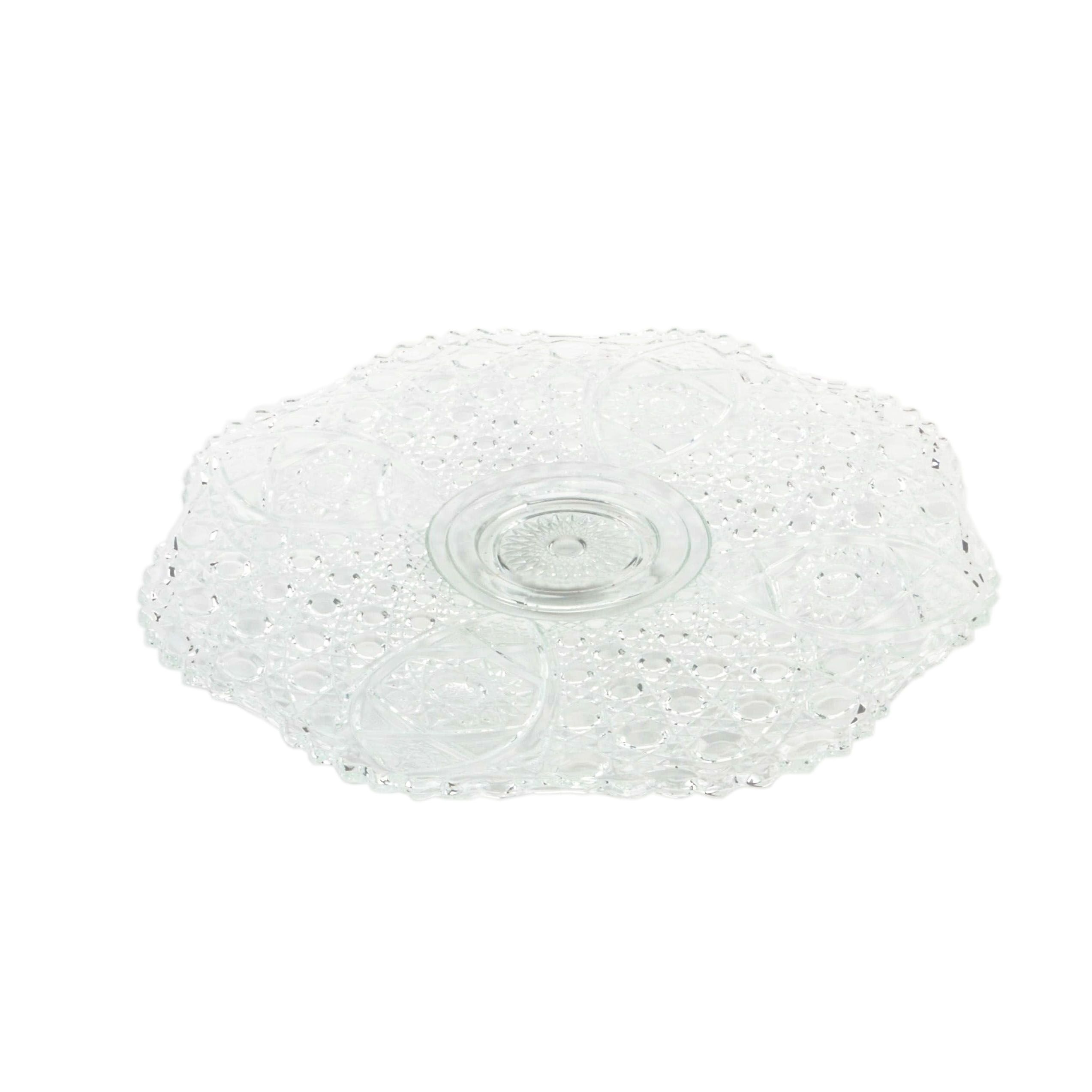 Vintage Pressed Glass Serving Tray