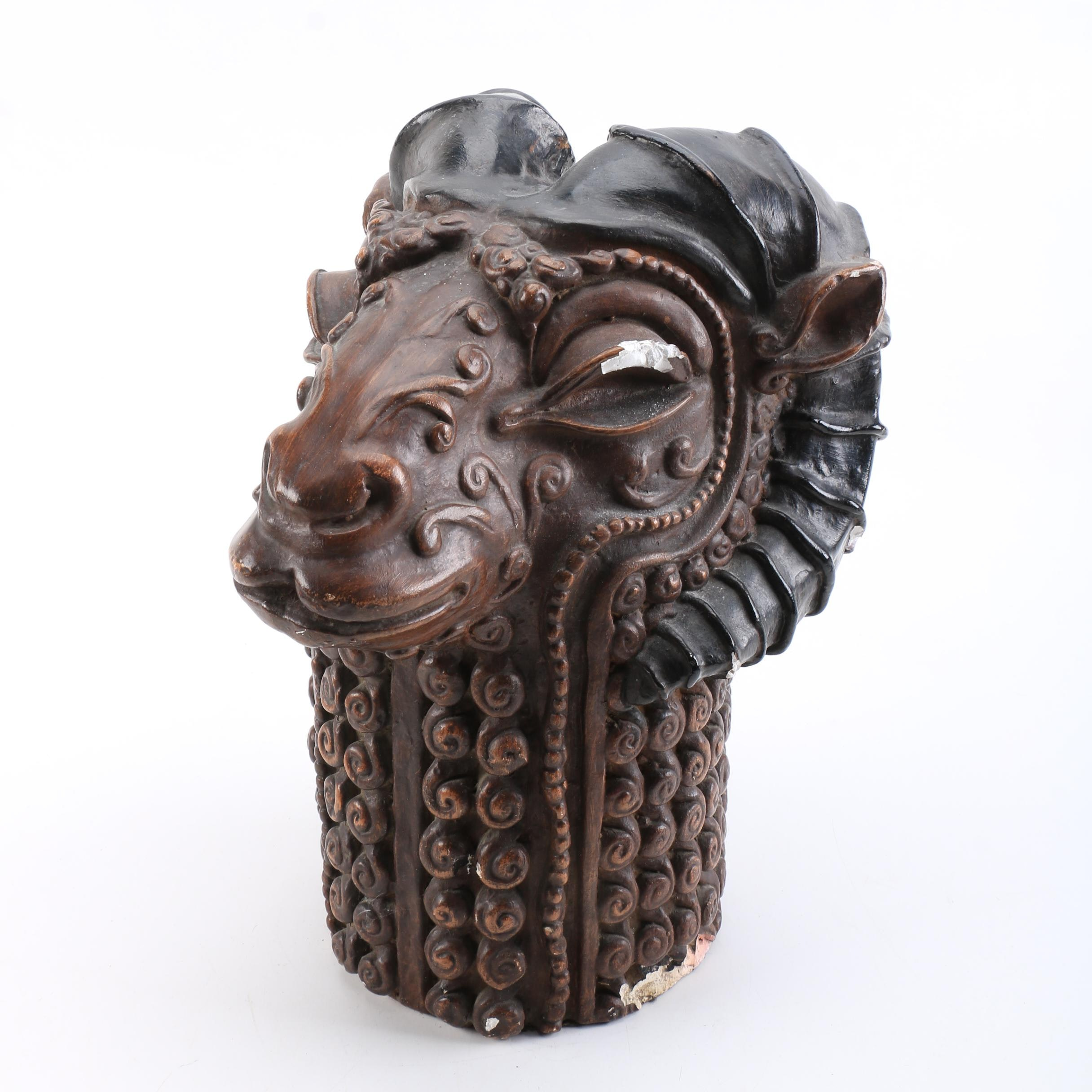 Ram Head Sculpture