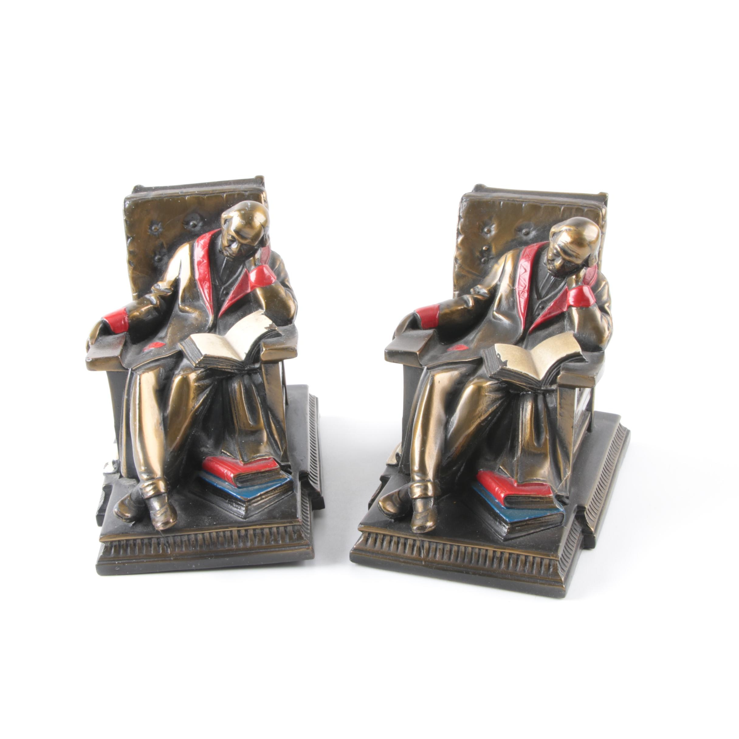 Reading Man Bookends