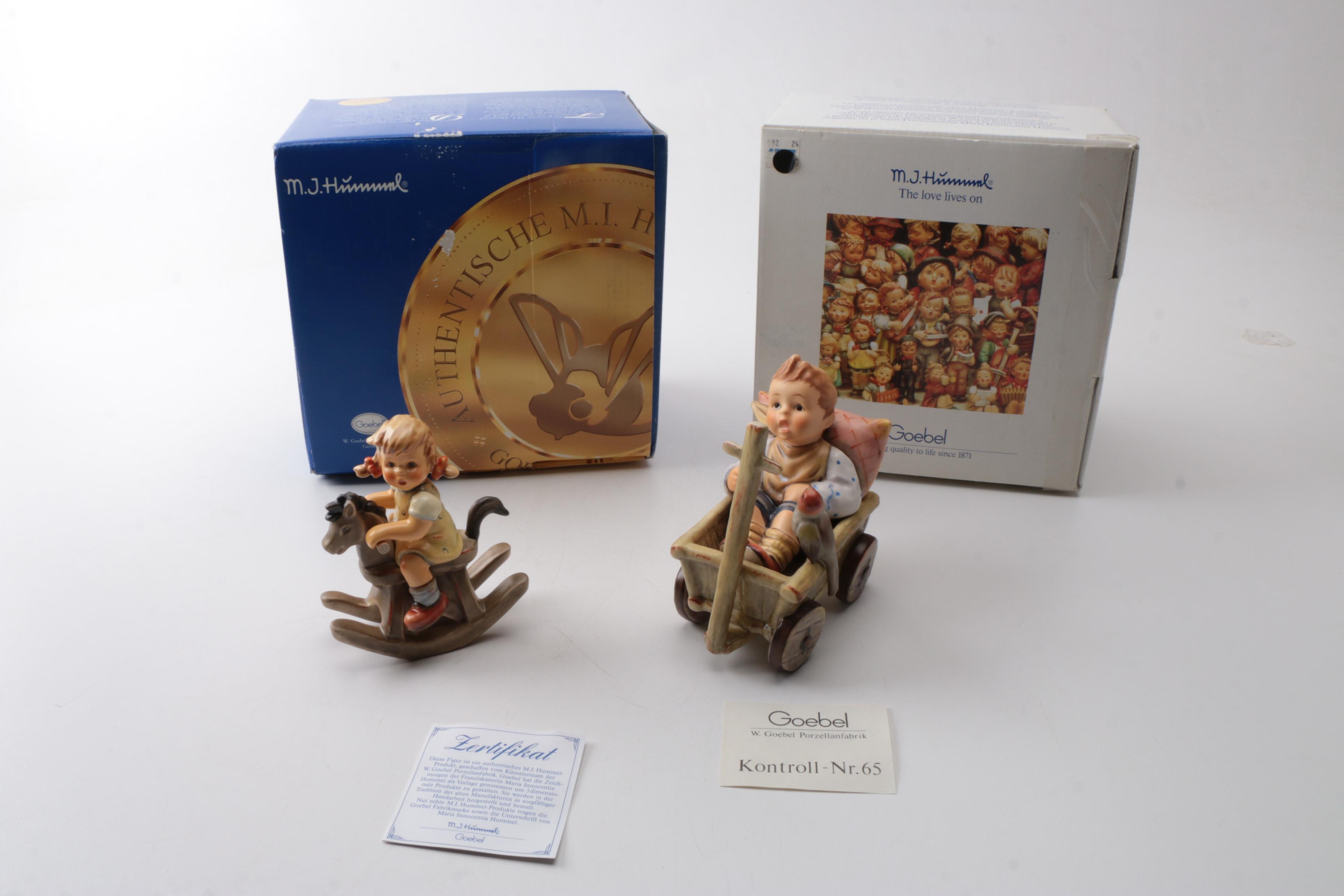 """First Issue Hummel """"I'm Carefree"""" and """"Cowboy Corral"""" Figurines"""