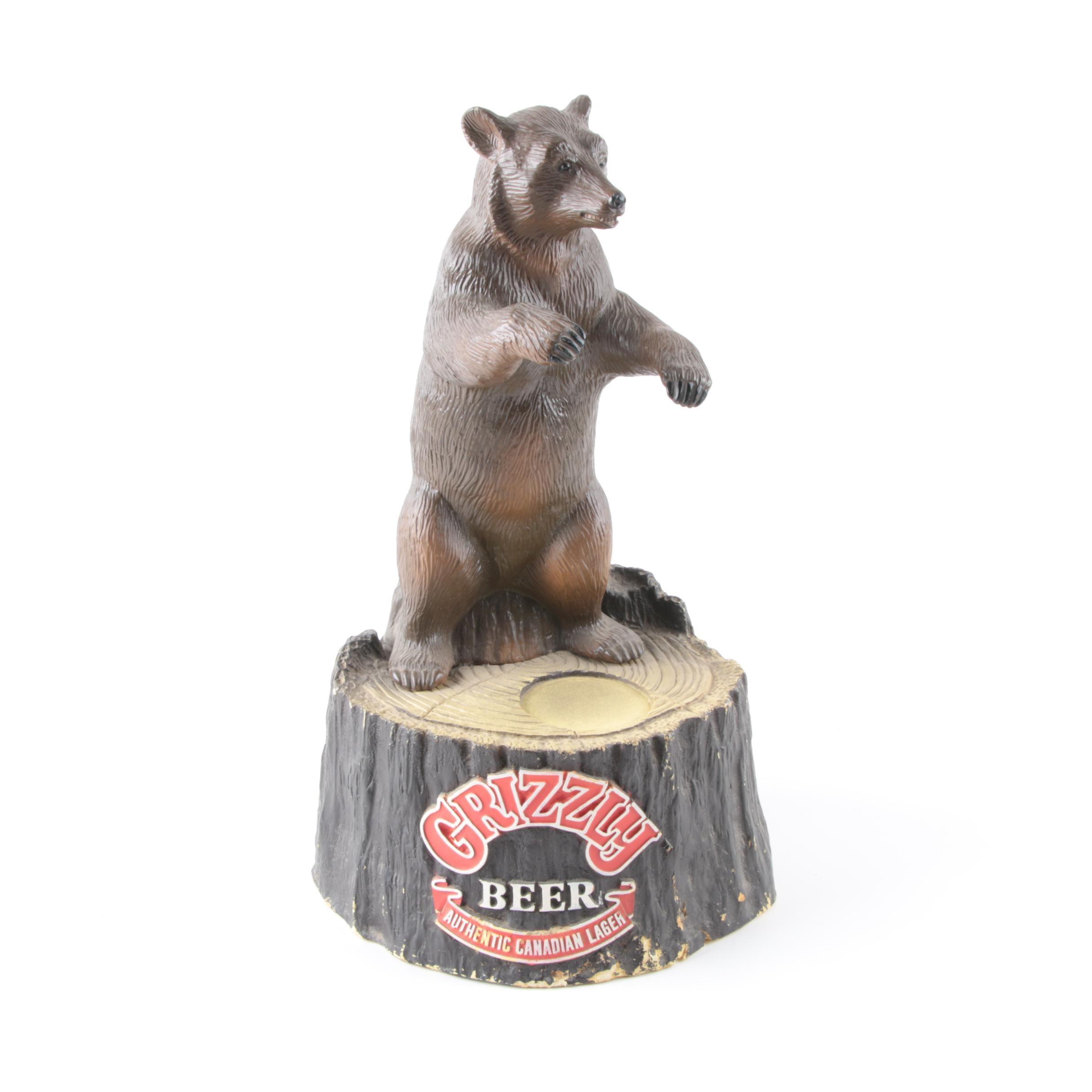 """Vintage """"Grizzly Beer"""" Advertising Display"""