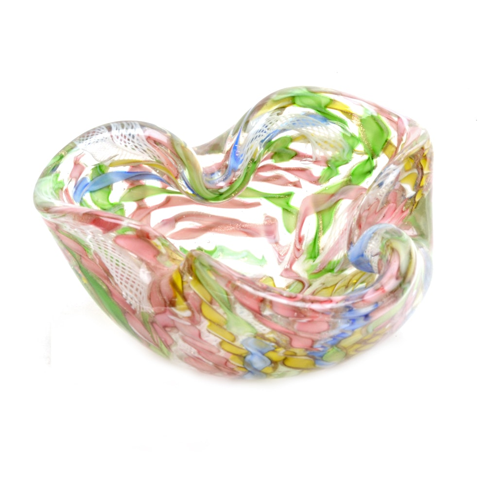 Vintage Tutti Frutti Art Glass Bowl