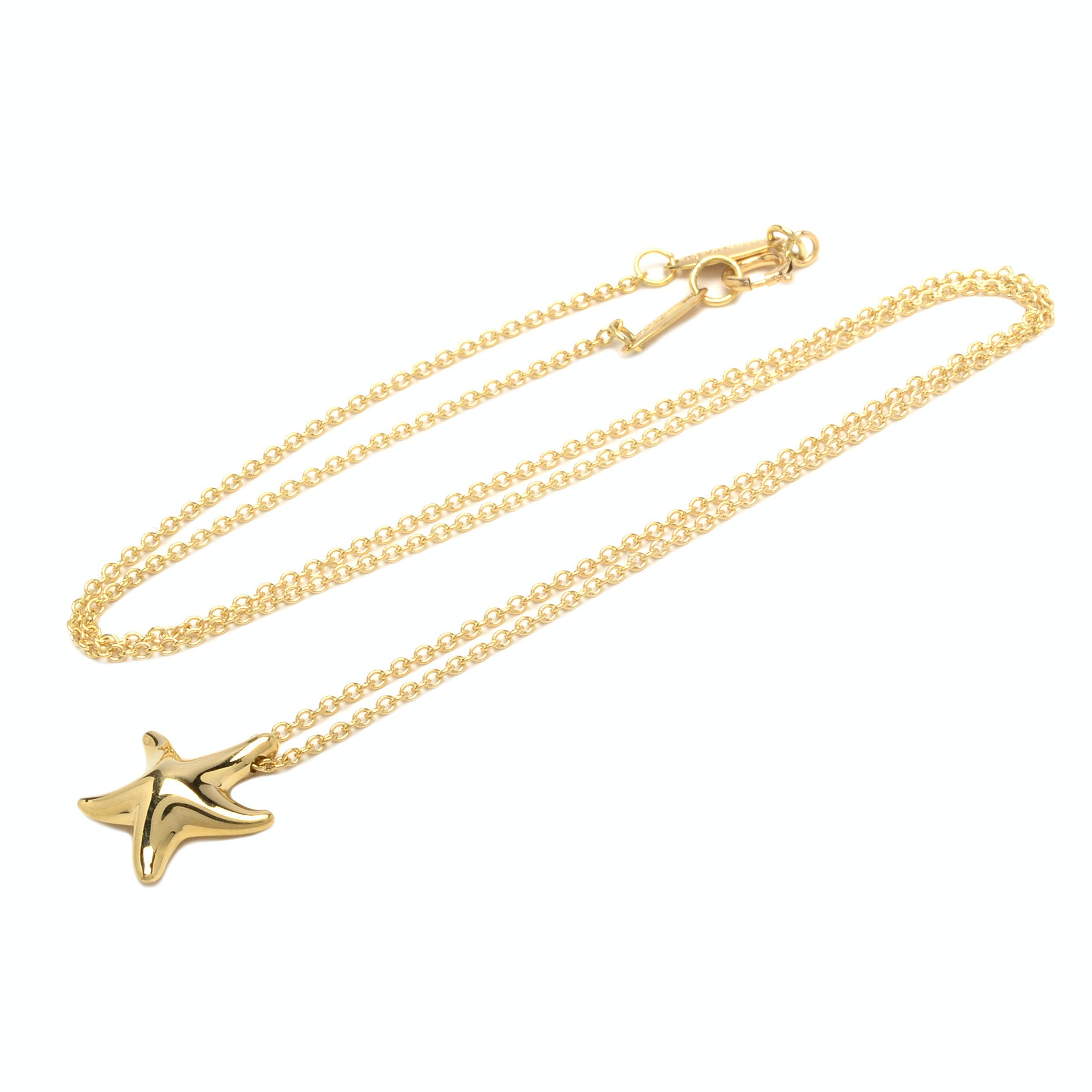 Tiffany & Co. Elsa Peretti ® 18K Yellow Gold Starfish Pendant Necklace