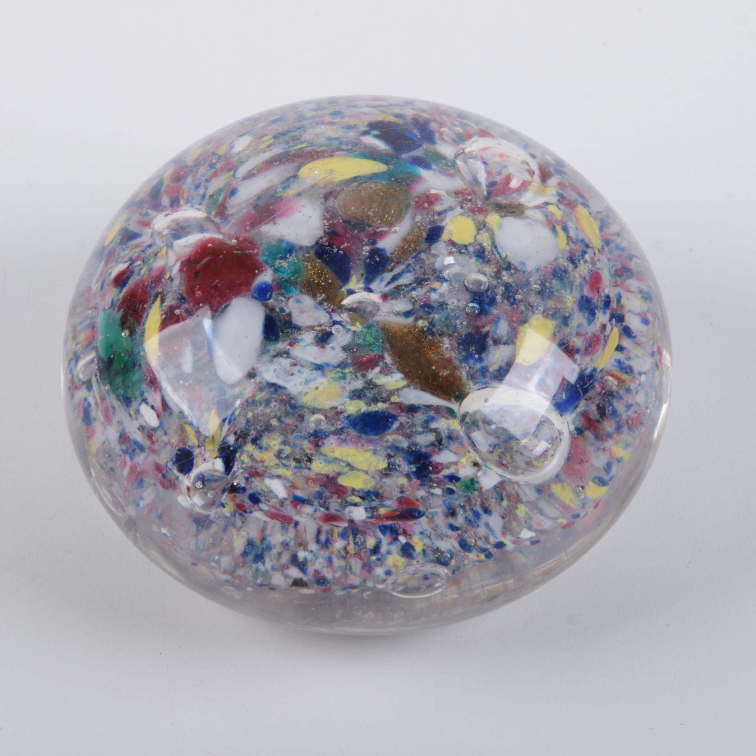 Multi-Color Art Glass Paperweight