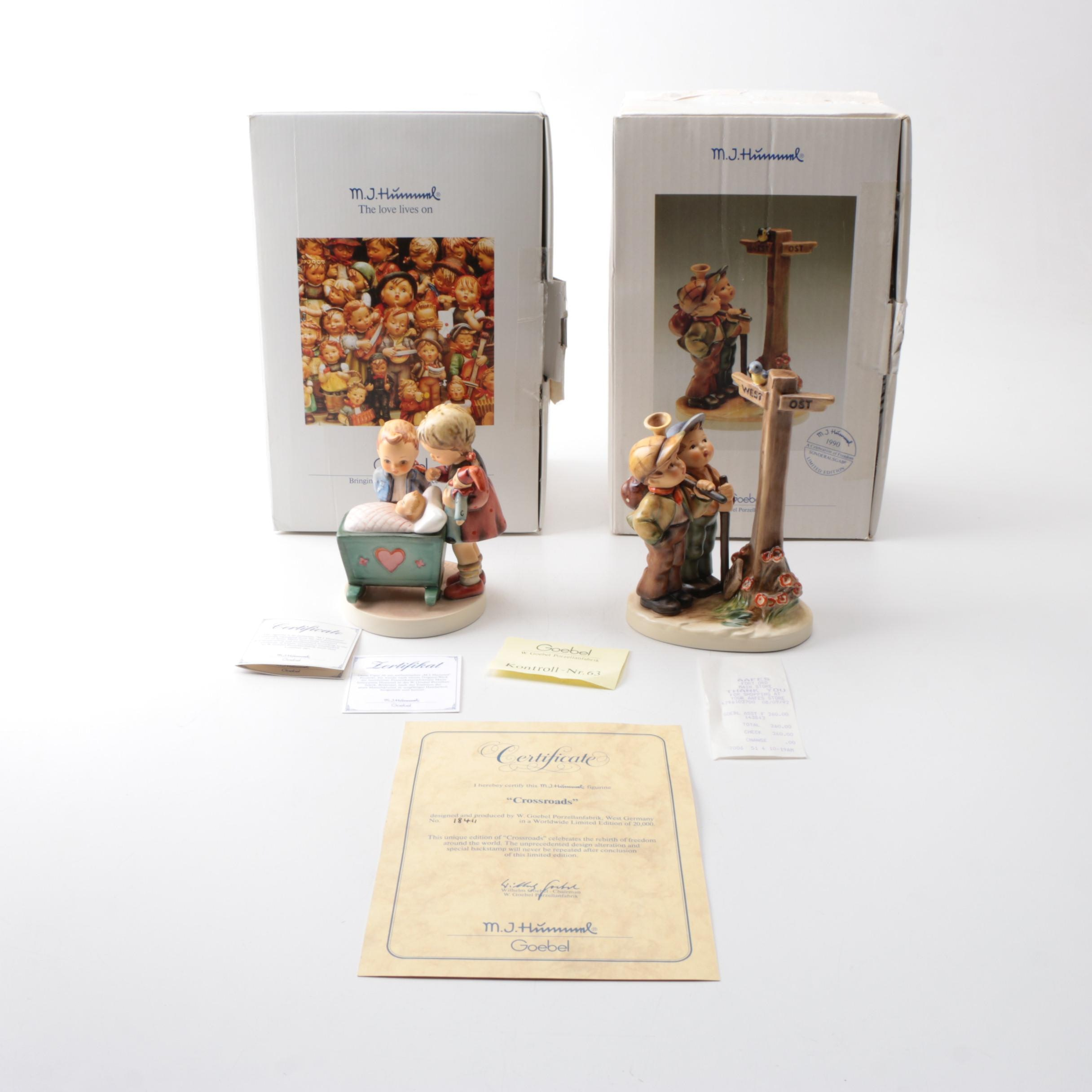 """Hummel Limited Edition """"Crossroads"""" and """"Blessed Event""""Figurines"""