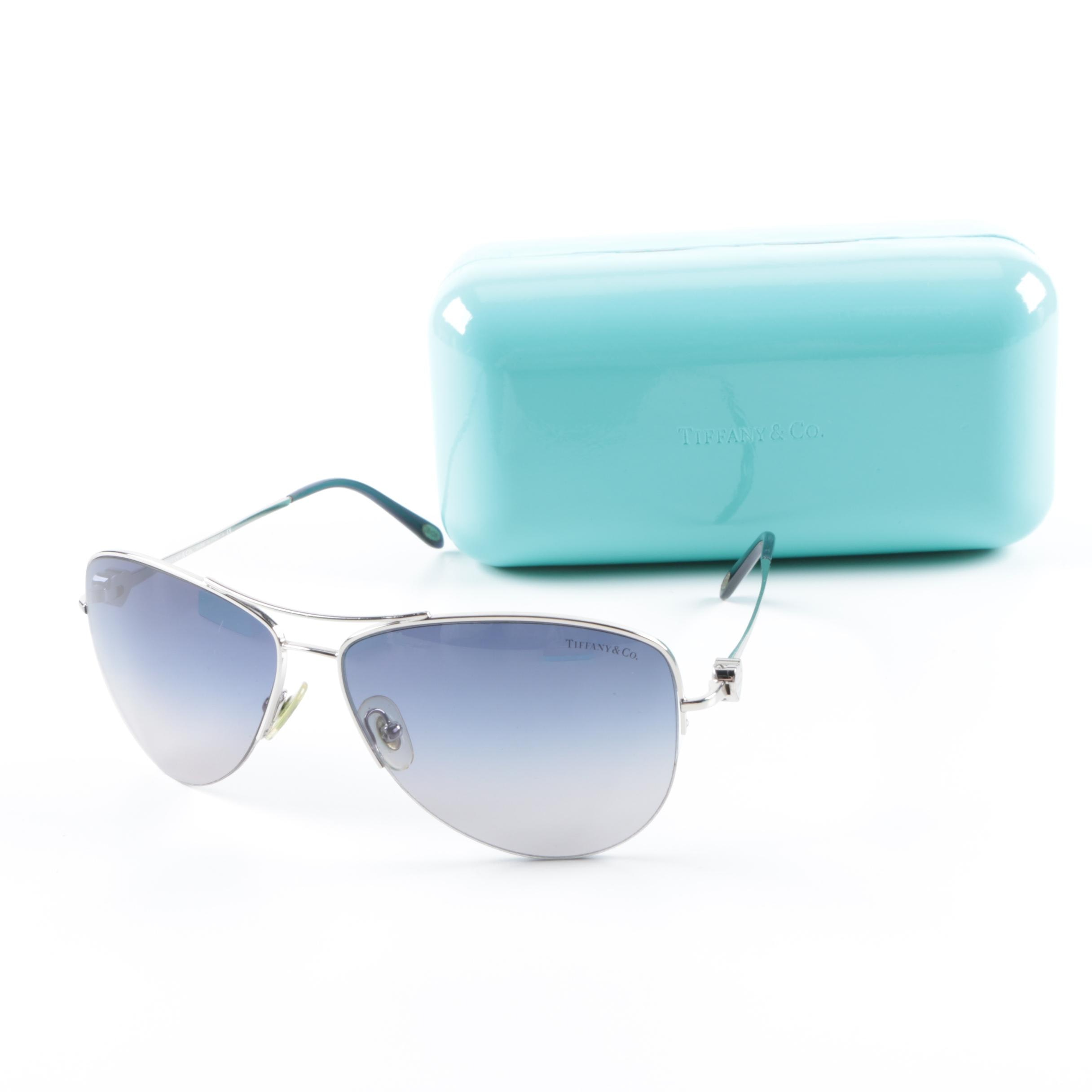 Tiffany & Co. Aviator Sunglasses and Case