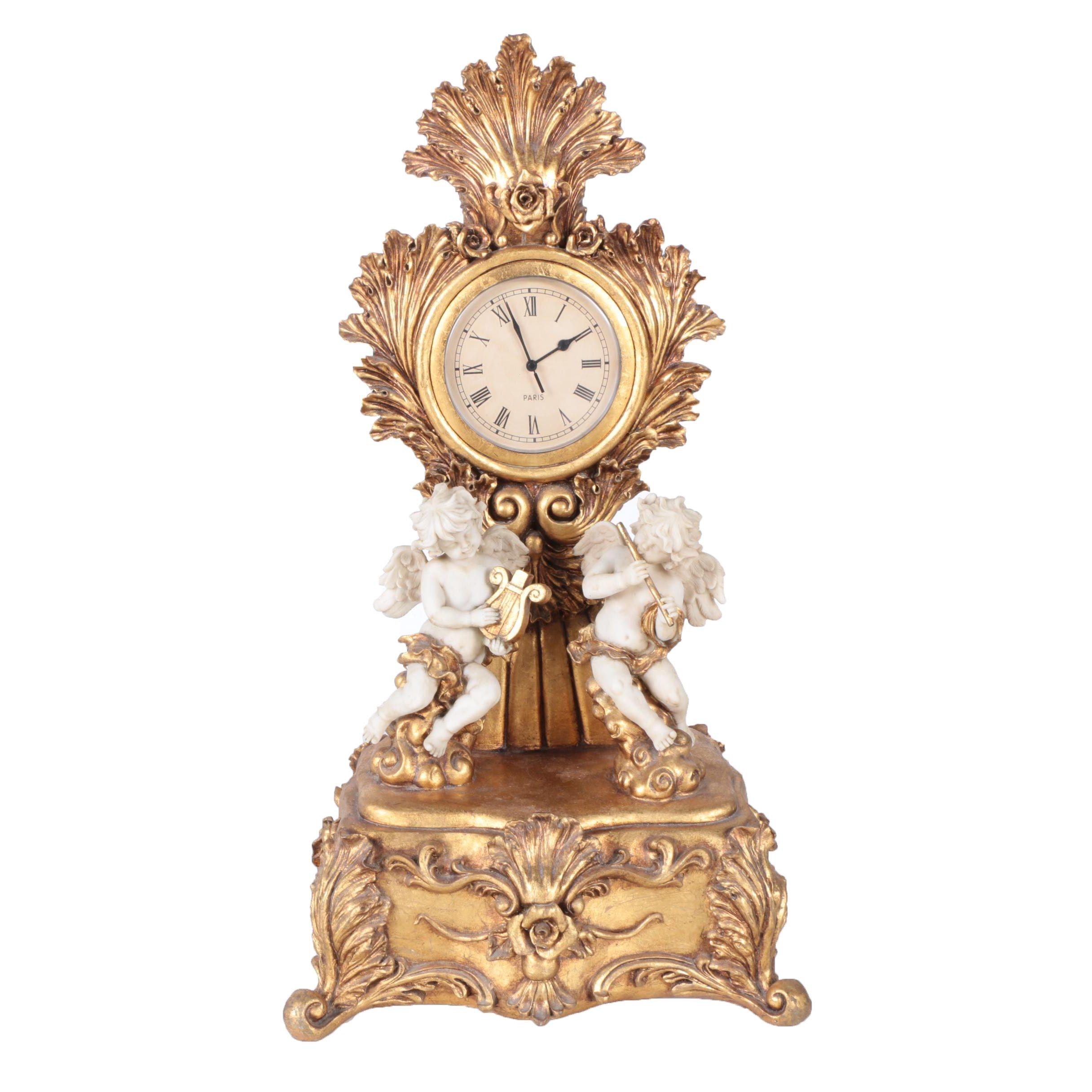 Rococo Style Mantel Clock