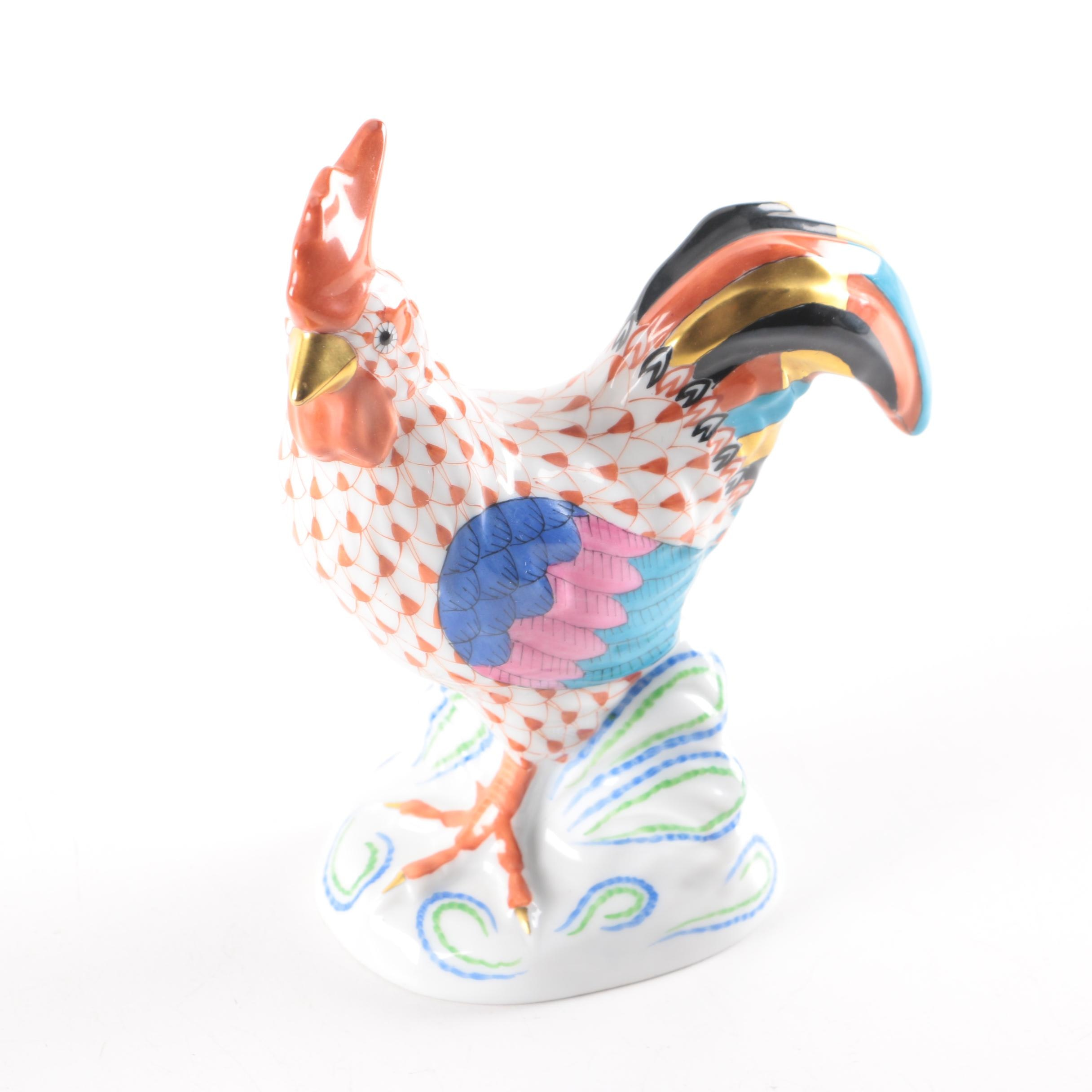 "Herend Porcelain Rooster in ""Rust"""