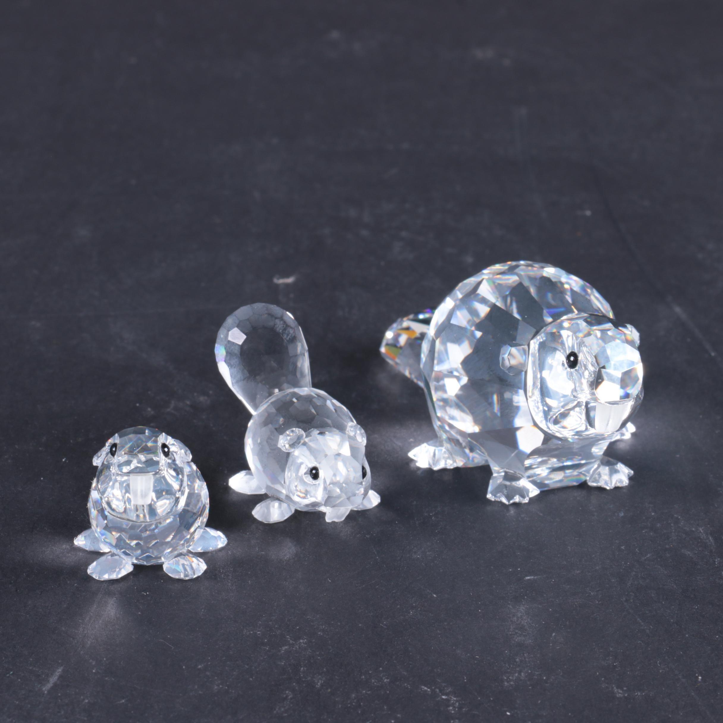 Swarovski Beaver Figurines