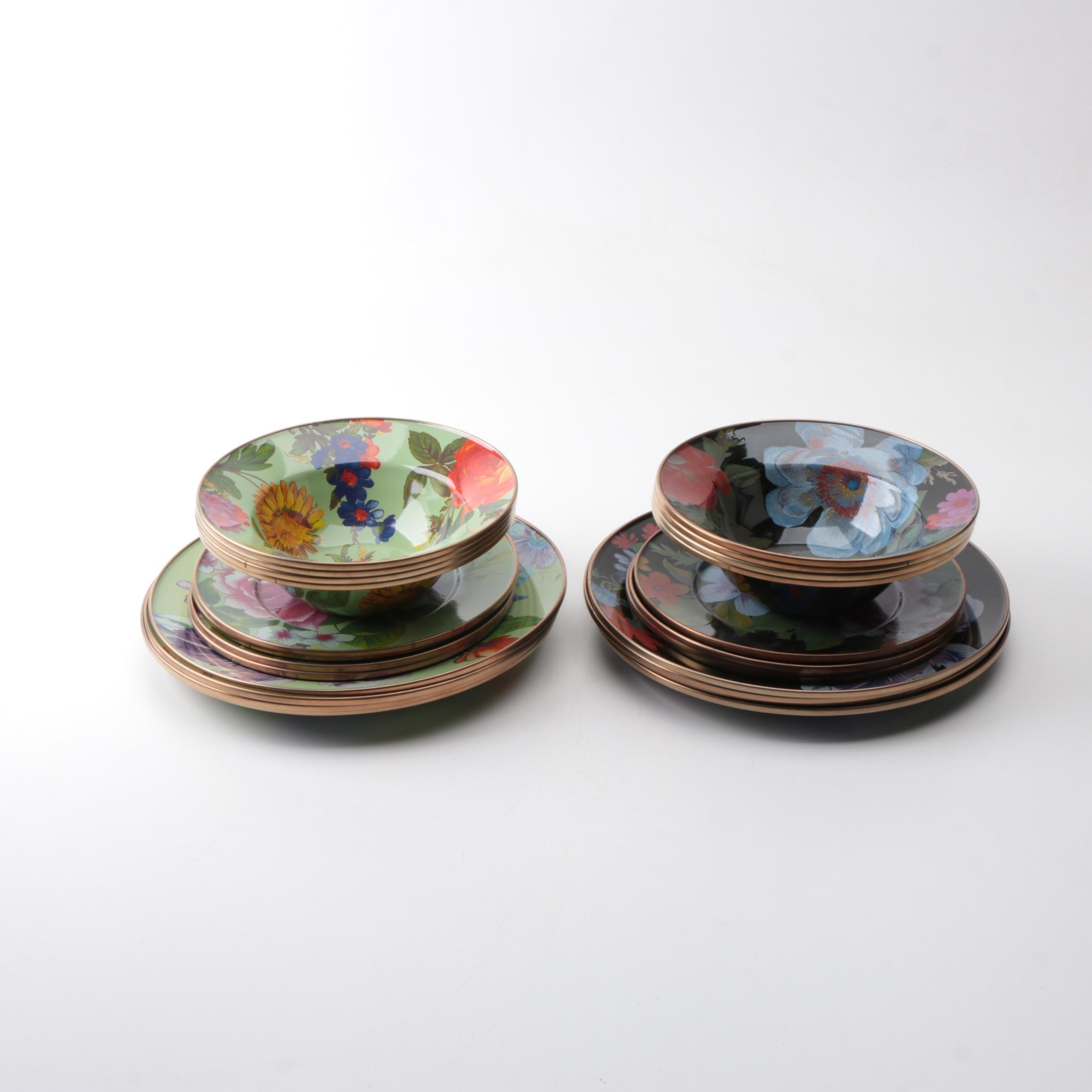 "MacKenzie Childs ""Flower Market"" Plates and Bowls"