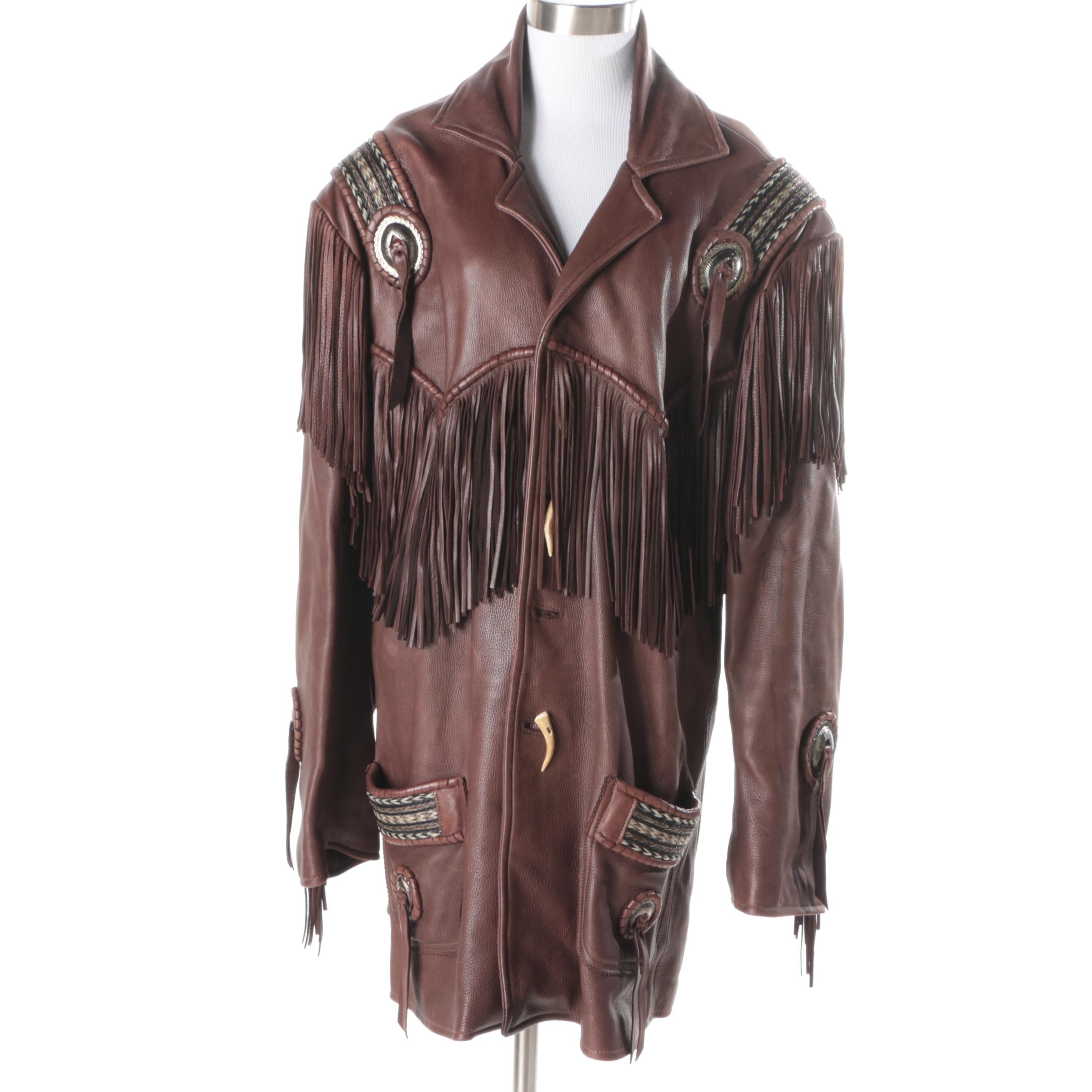 Women's Fringed Leather Jacket