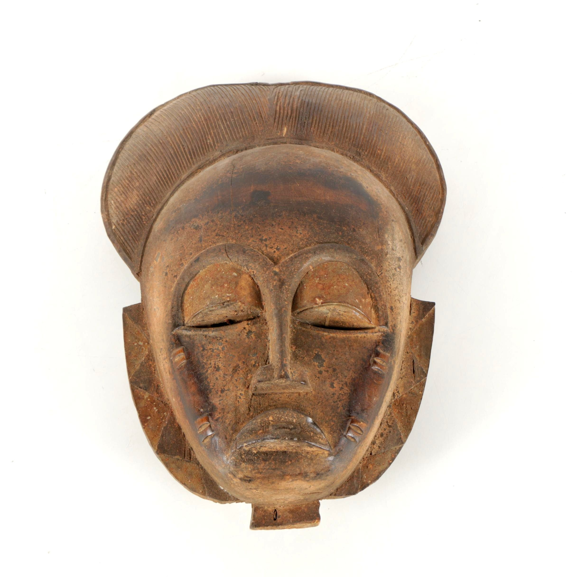 West African-Style Carved Wooden Mask