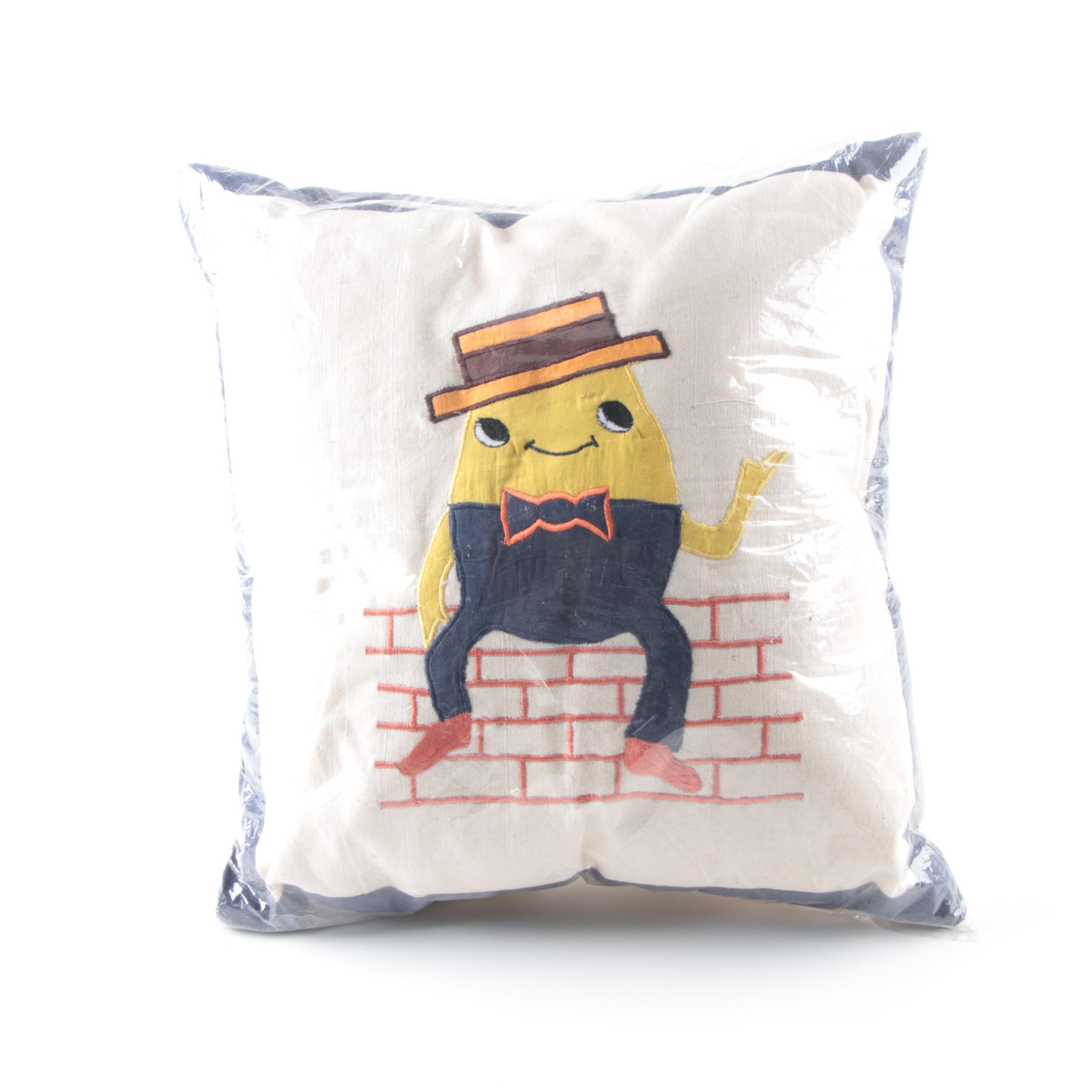 Handmade Humpty Dumpty Applique Pillow