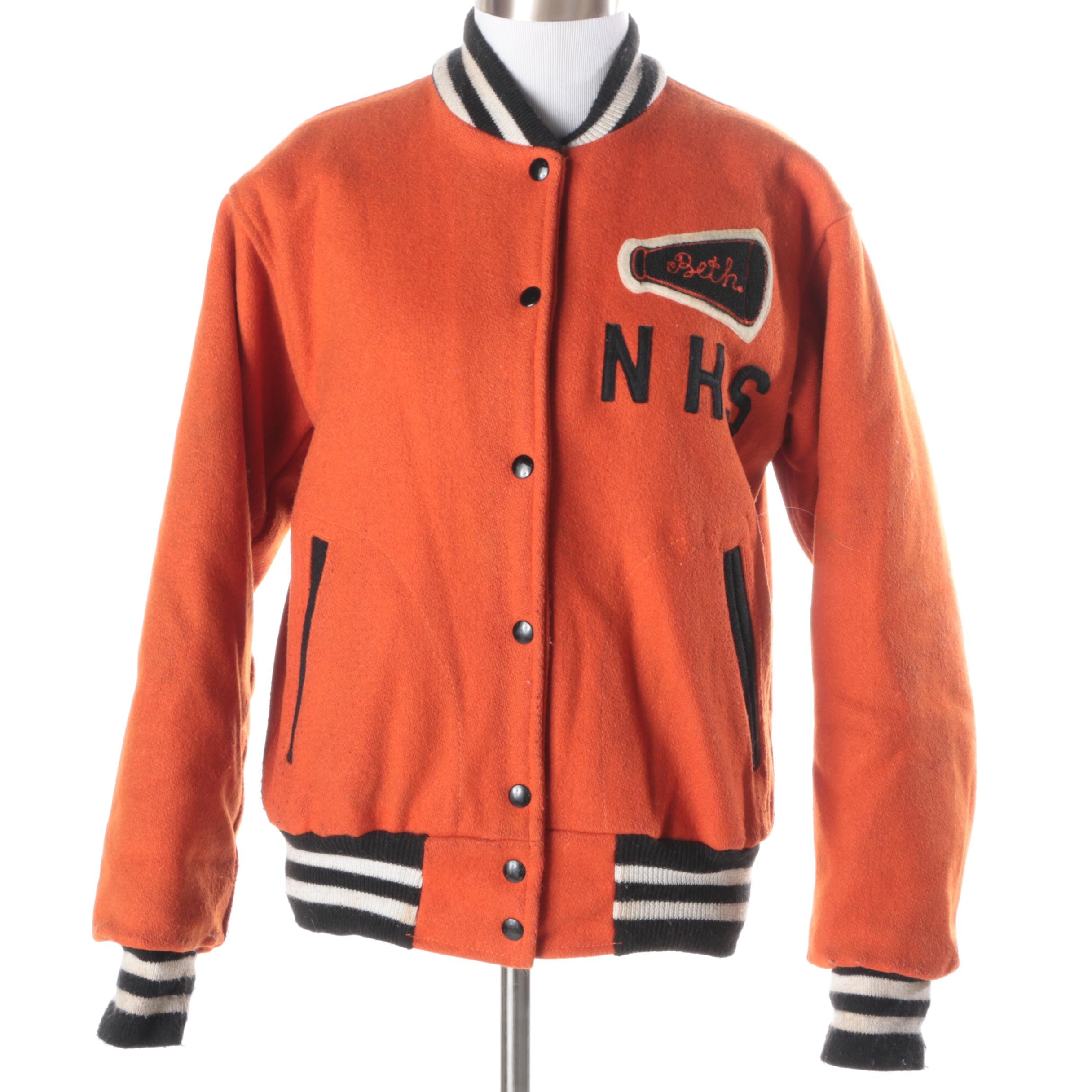 Women's Vintage Wool Letterman Jacket