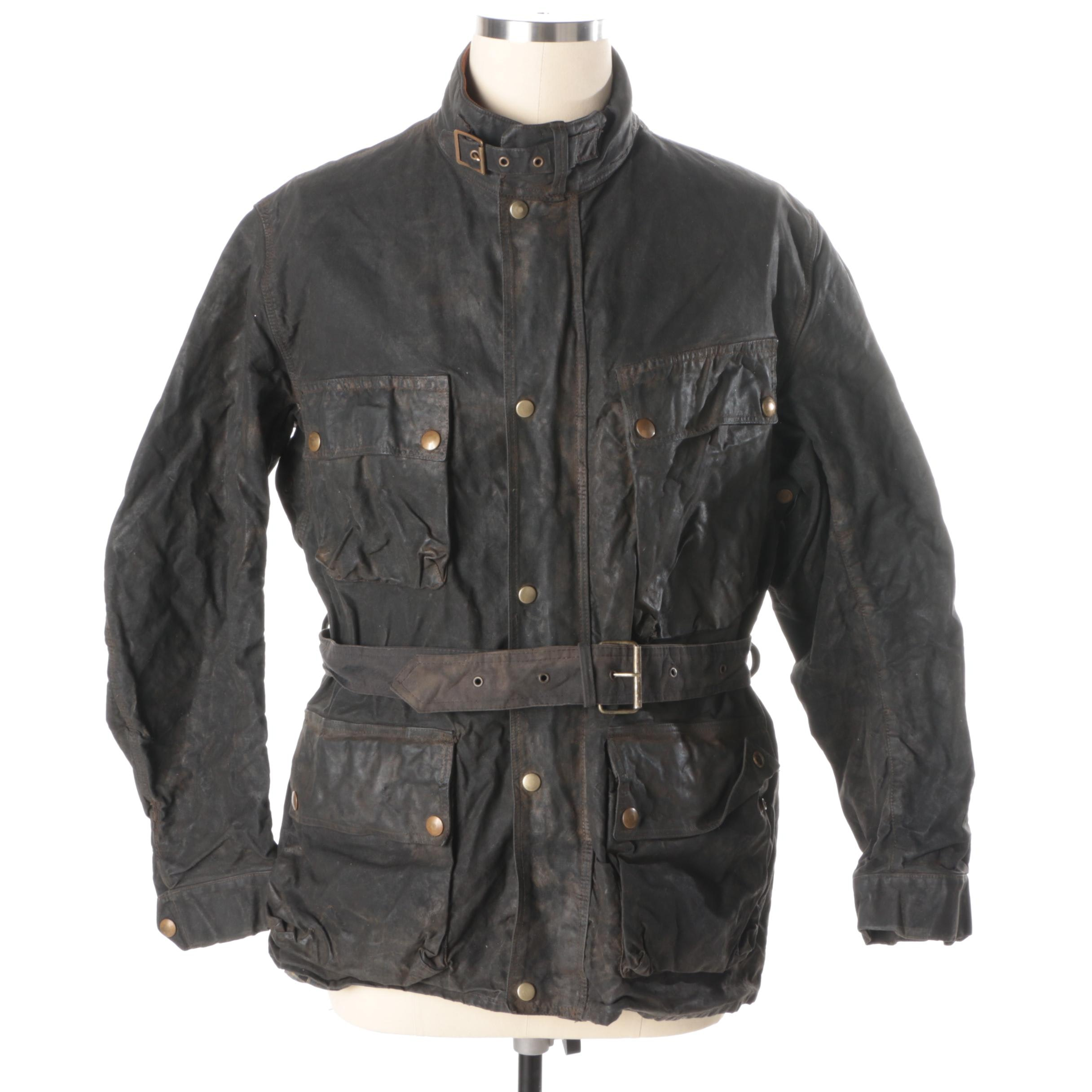 Men's Vintage Belstaff Trialmaster Waxed Cotton Jacket