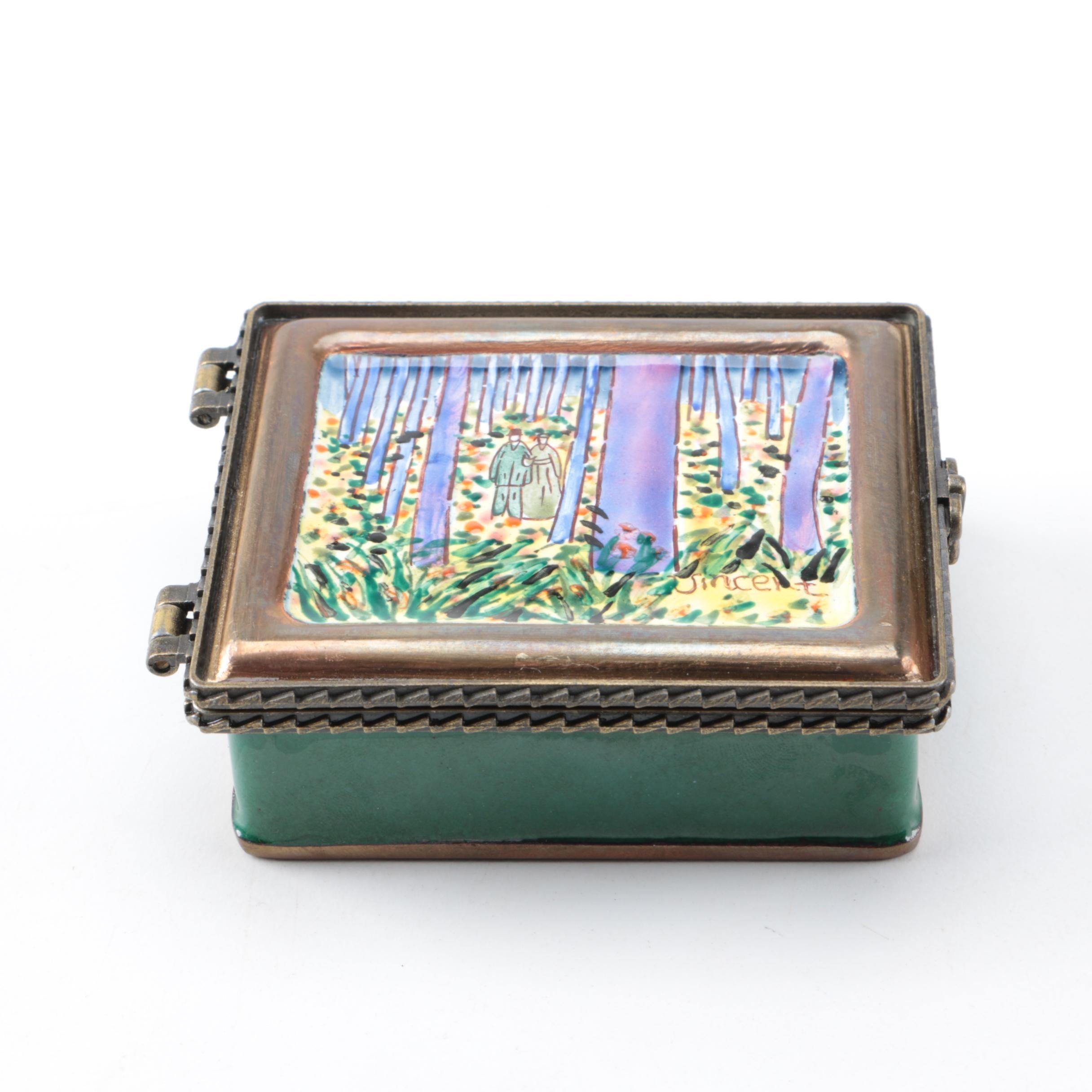 Enameled Trinket Box by Kelvin Chen