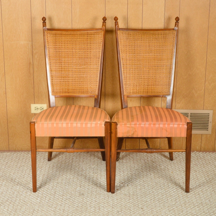 Outstanding Pair Of Vintage Mid Century Modern Dining Chairs By Drexel Dailytribune Chair Design For Home Dailytribuneorg