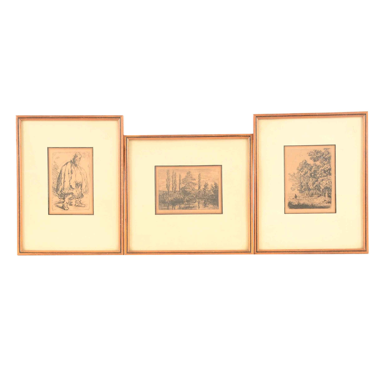 "P.G. Hamerton Plates from 1880 Publication ""Etching & Etchers"""
