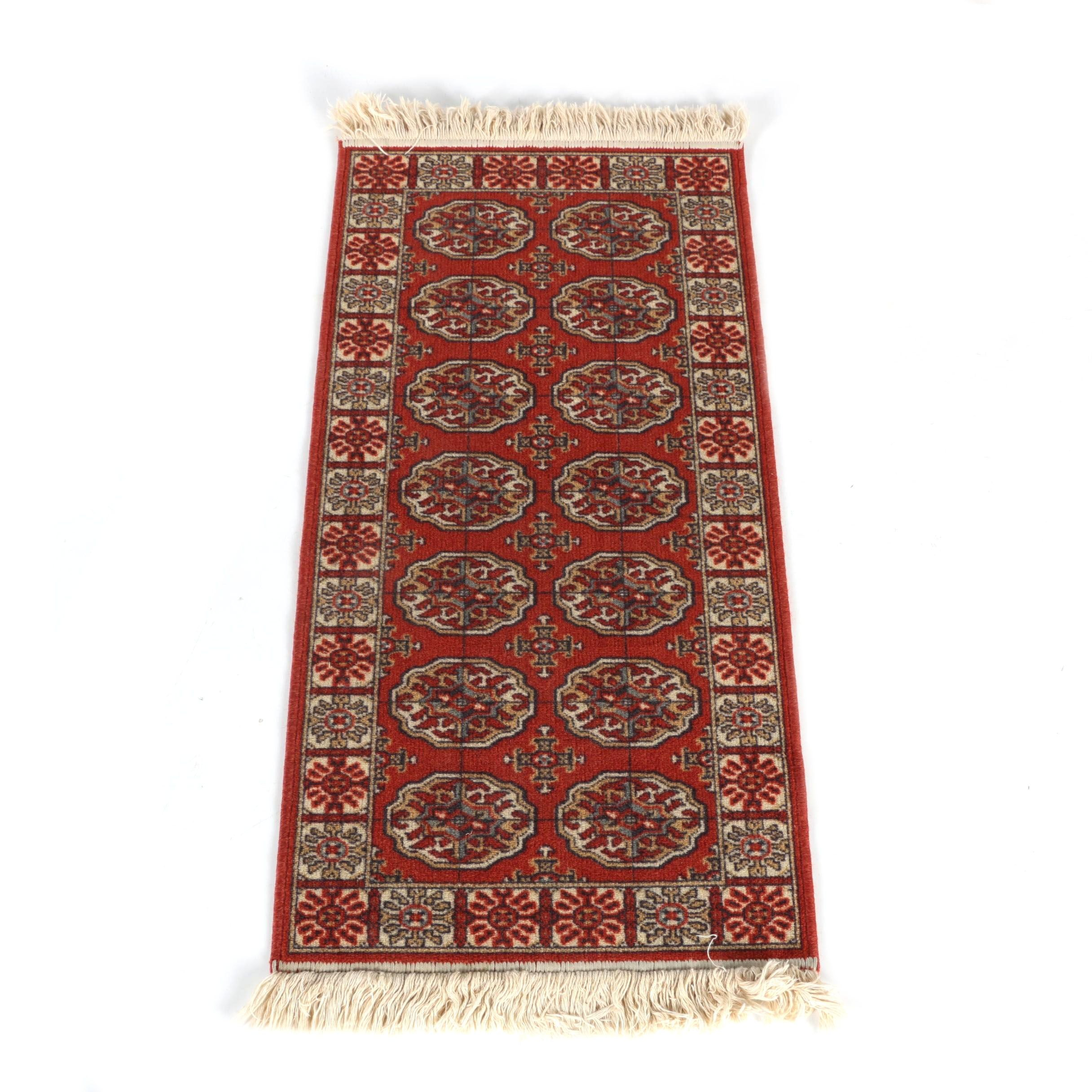 Power-Loomed Bokhara Style Accent Rug